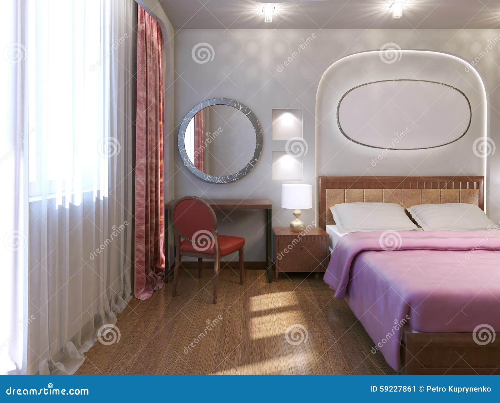 Diseño del dormitorio del hotel del art nouveau