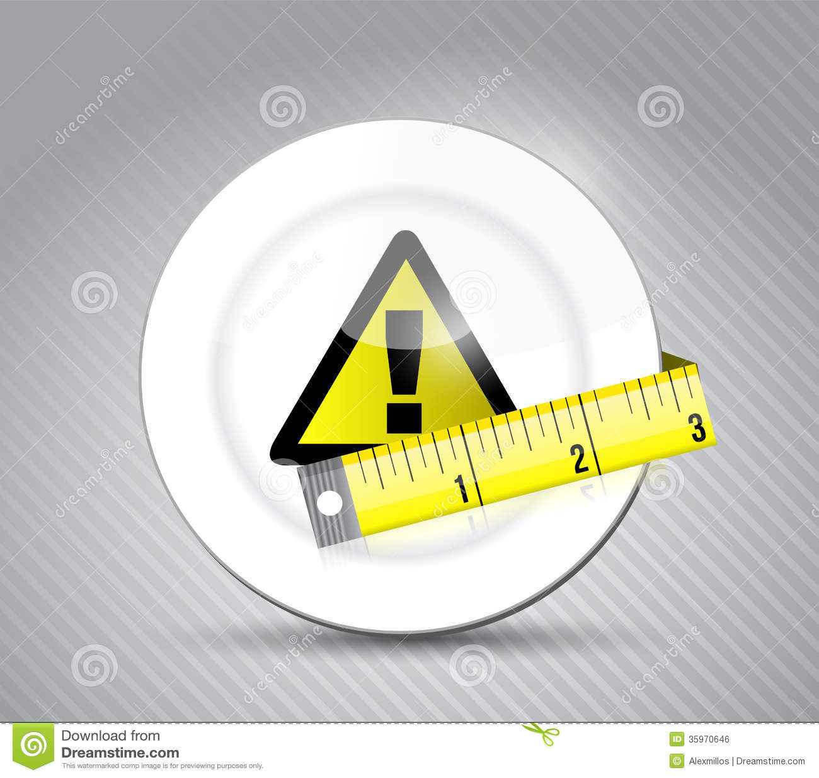 Diseño del ejemplo de la señal de peligro del pie