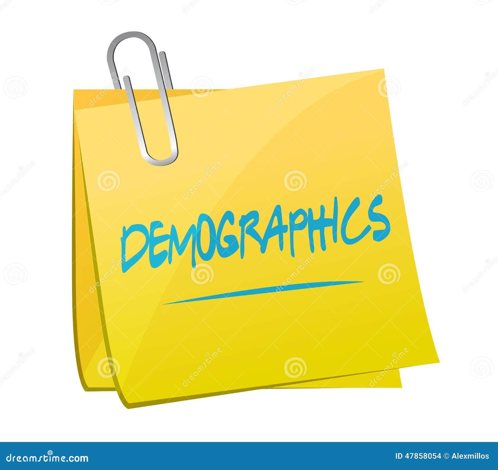 Diseño del ejemplo del post-it del demographics