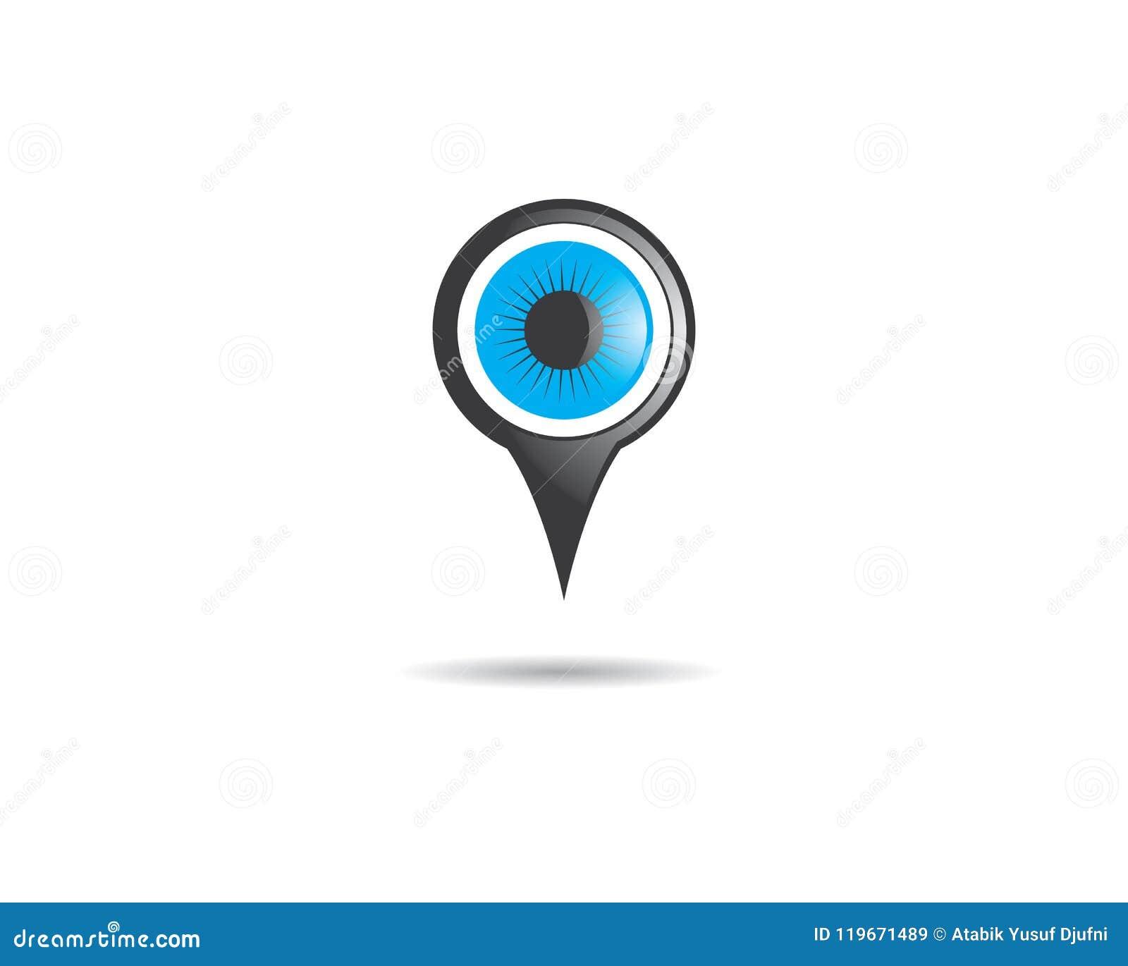 Diseño Del Ejemplo Del Símbolo Del Ojo Ilustración del Vector ...