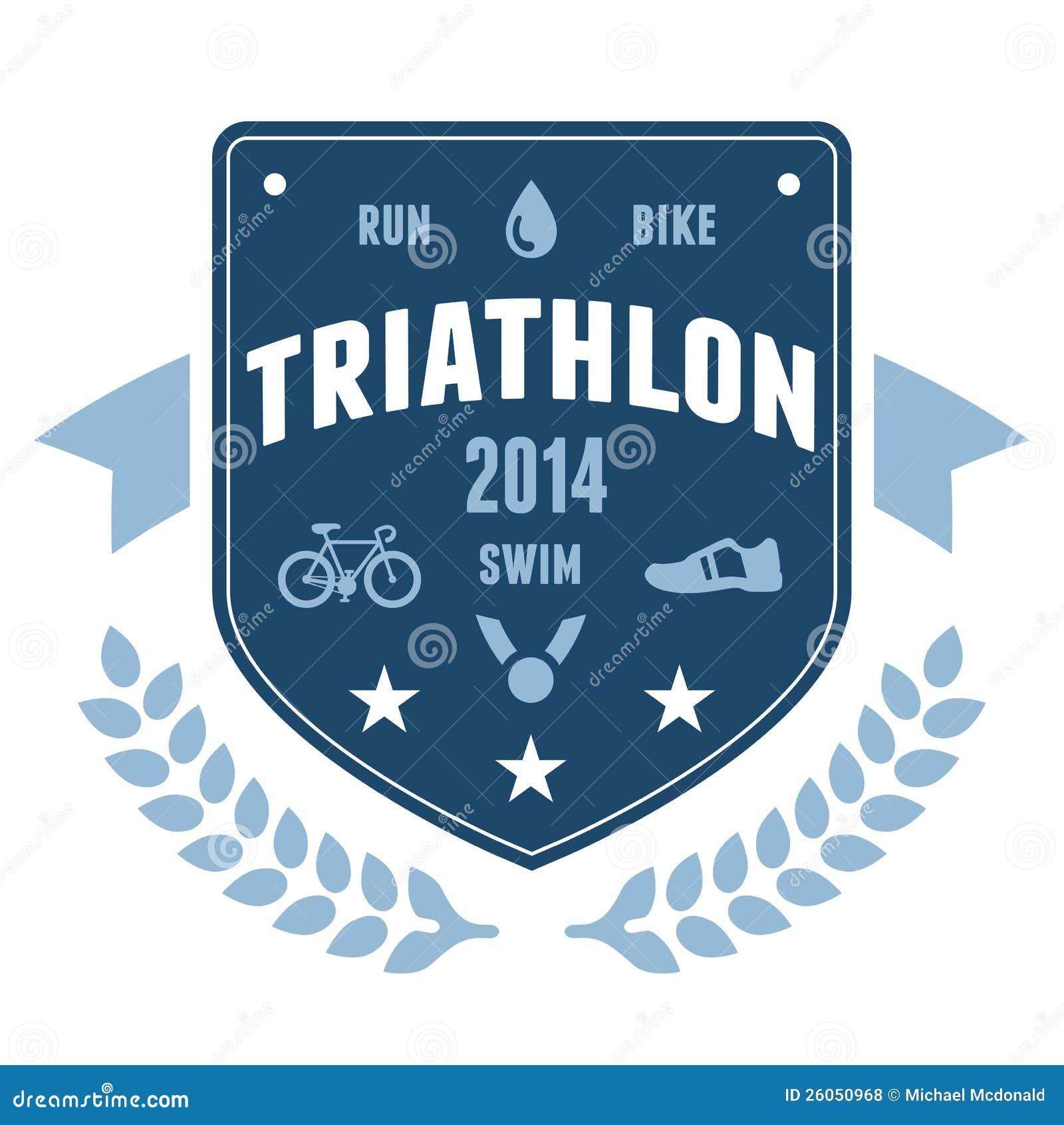 Diseño del emblema de la divisa del Triathlon