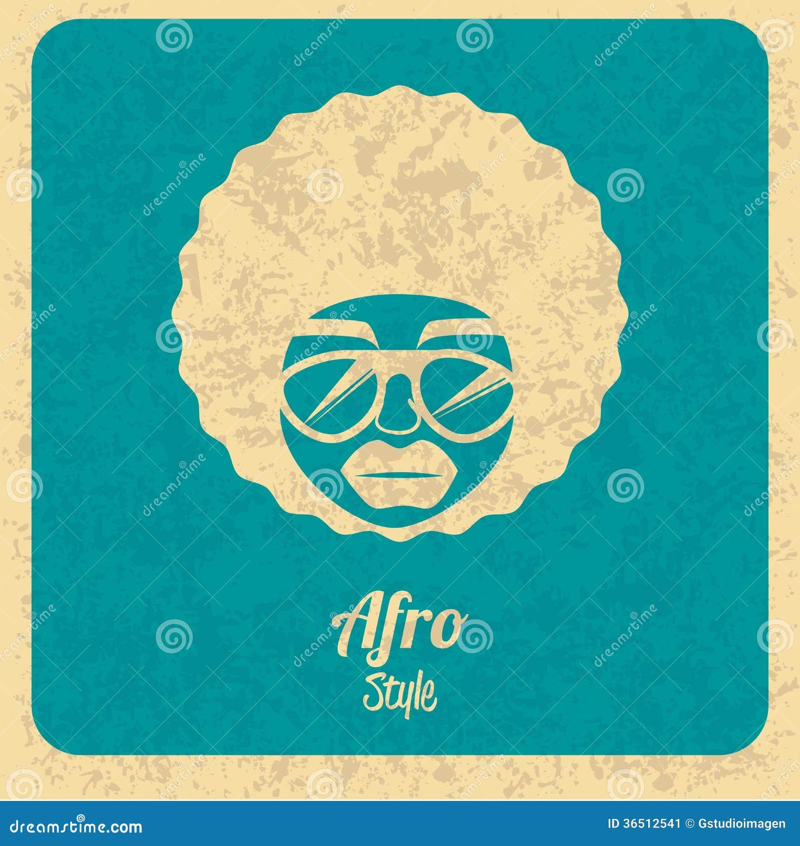 Diseño del estilo del Afro