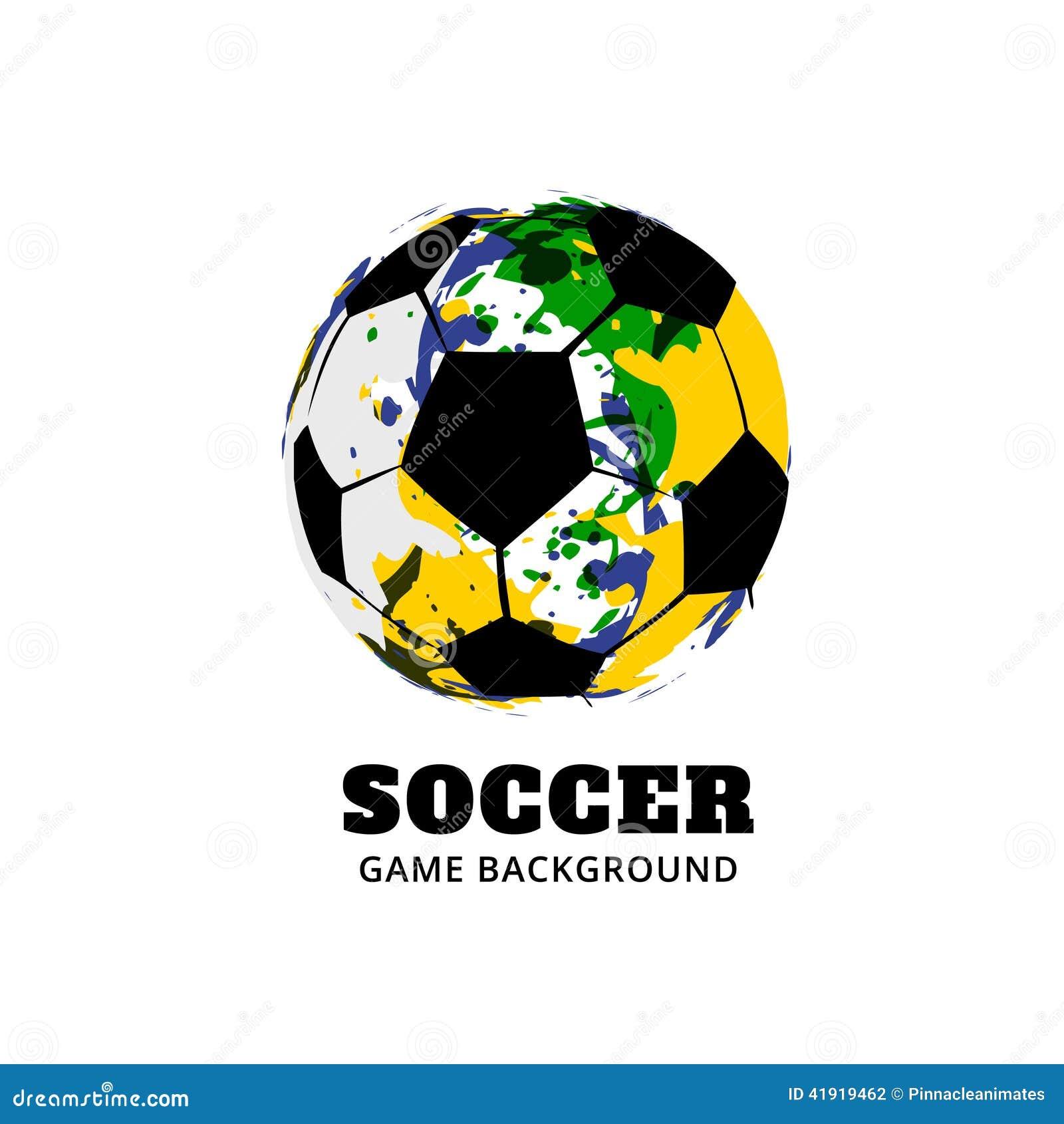 Diseño del fútbol del fútbol del Brasil