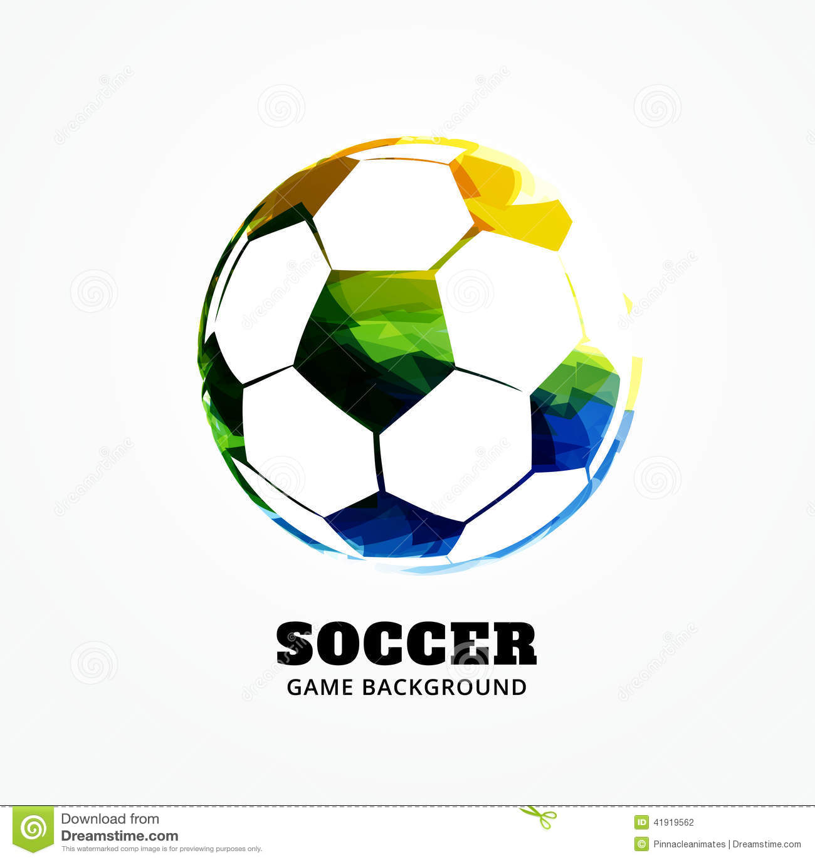 Diseño del fútbol del vector
