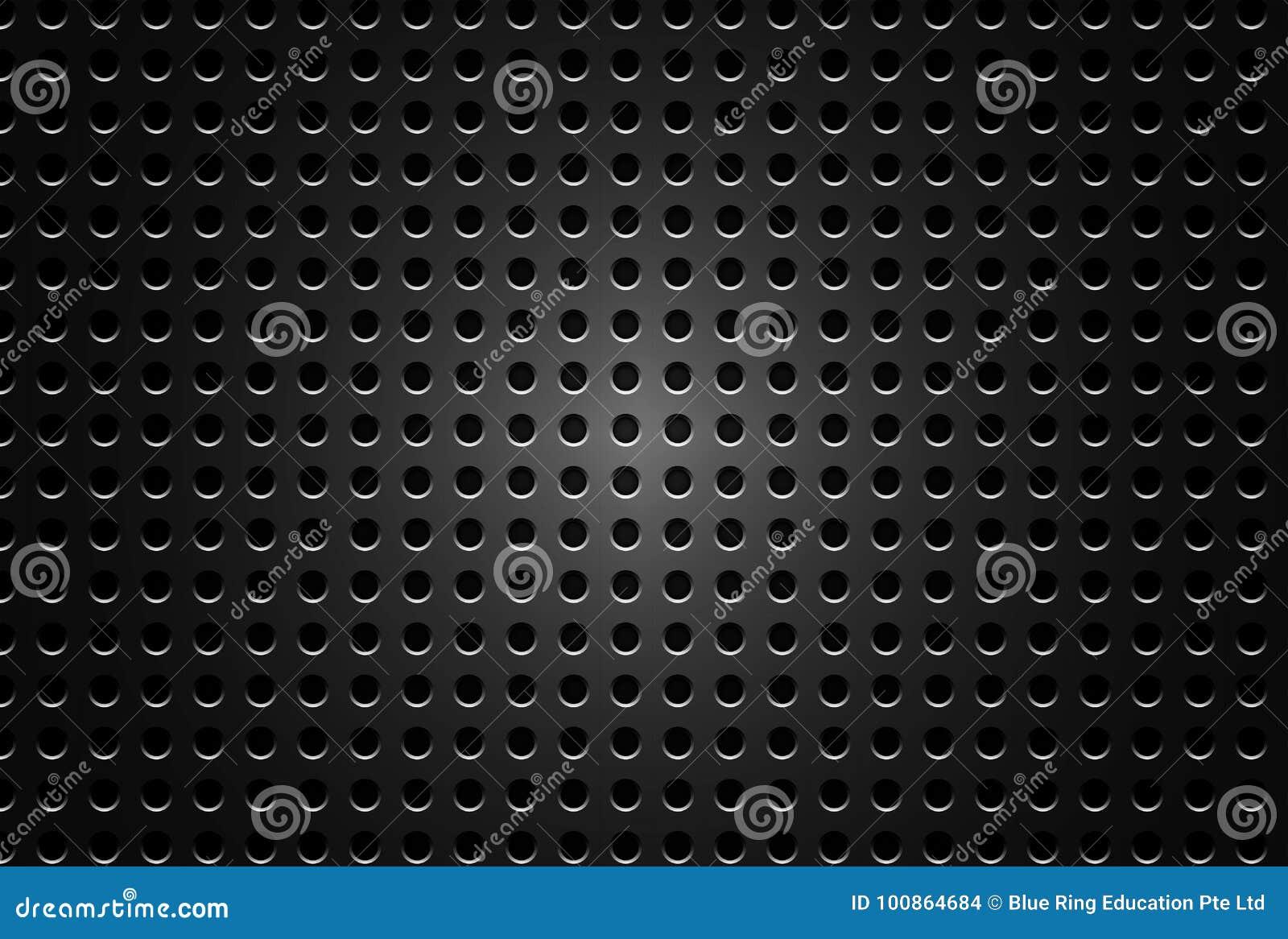 Diseño del fondo con la placa metálica negra