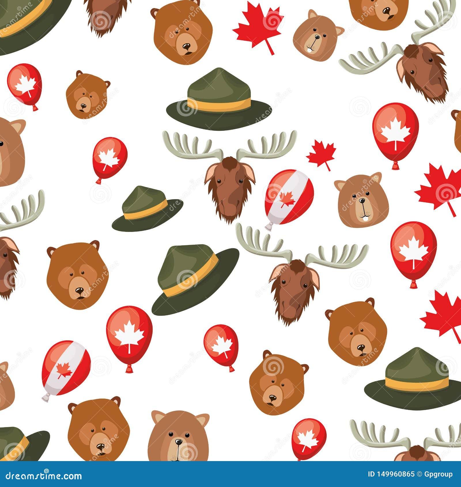 Diseño del fondo del oso y del castor de los alces