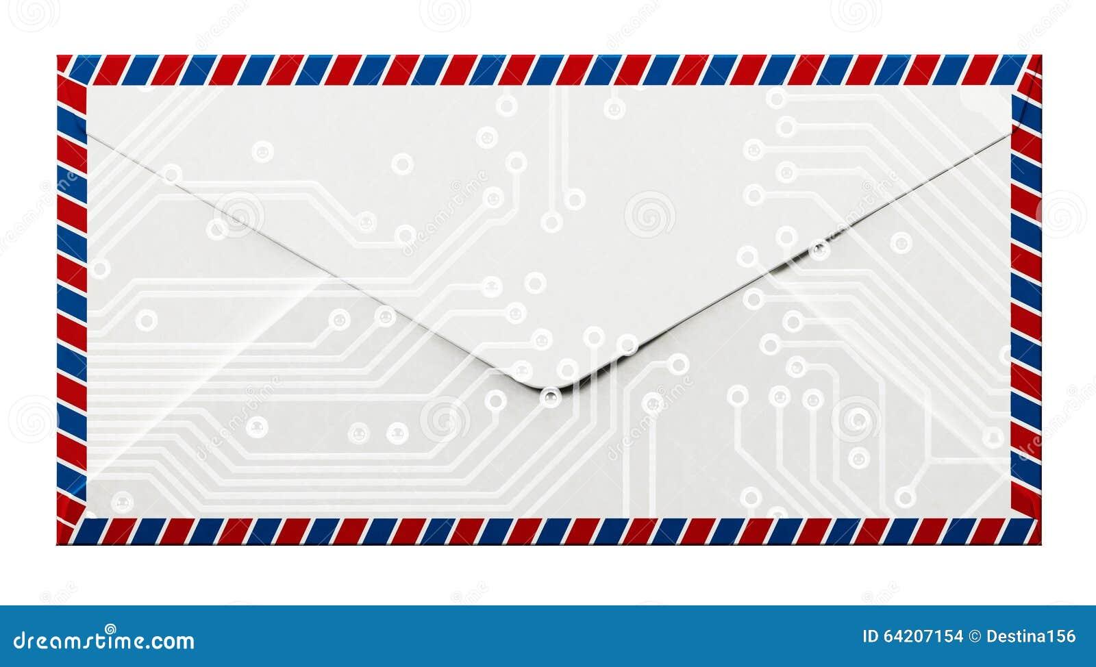 Diseño del frente y de la parte posterior de Enveloppe
