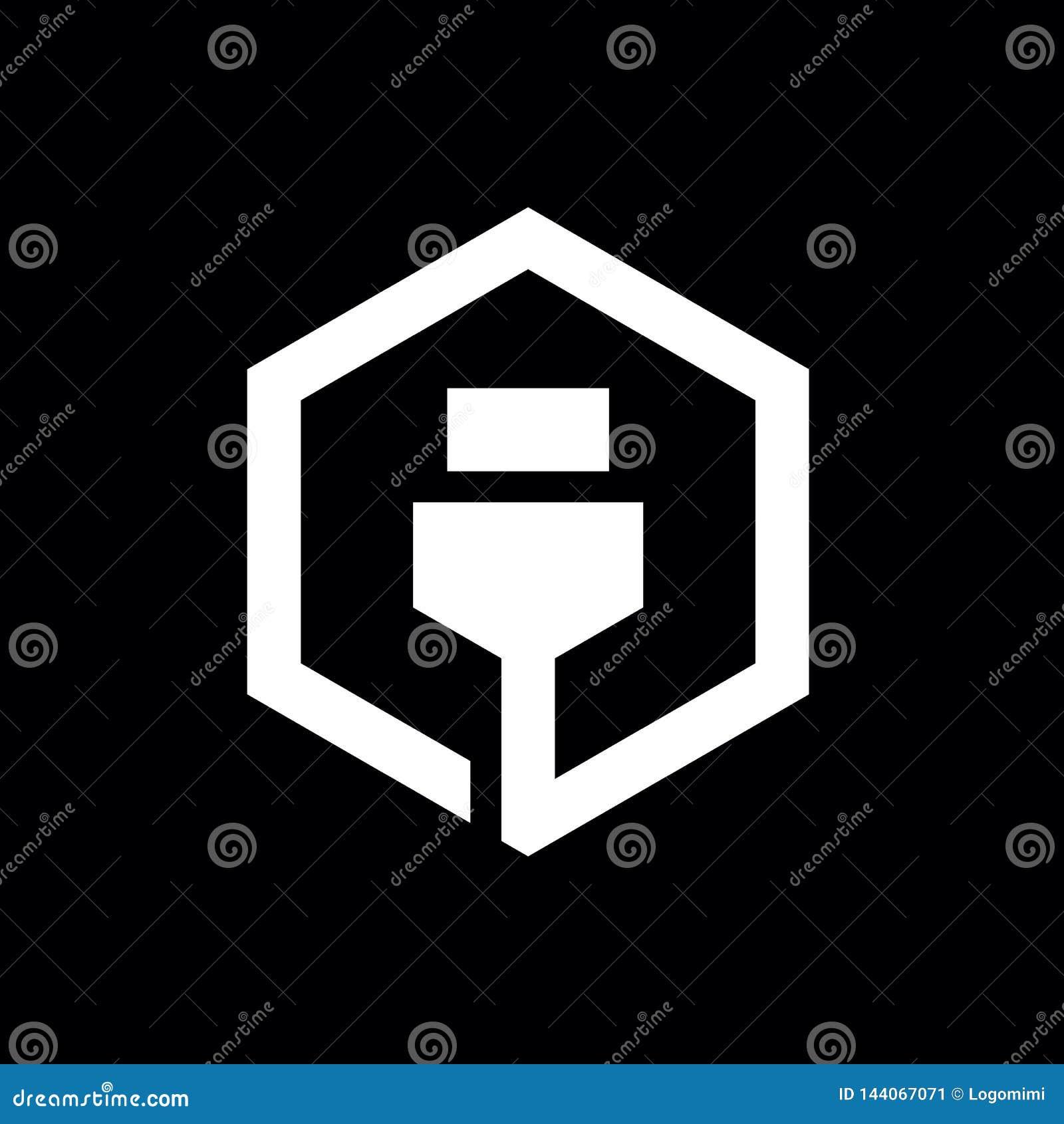 Diseño del icono del cable del USB, combinado con hexágono, Logo Elements, diseño del ejemplo del vector