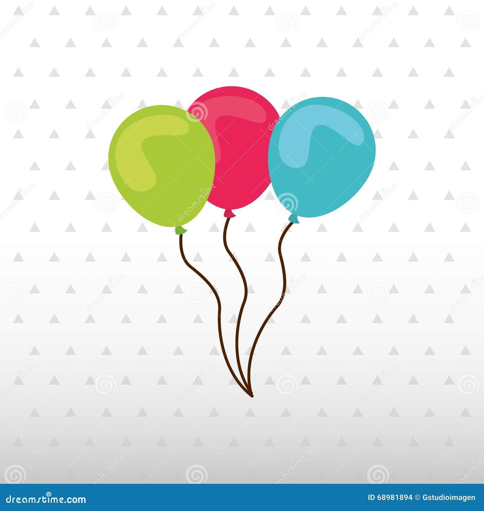 Diseño del icono de la fiesta de cumpleaños