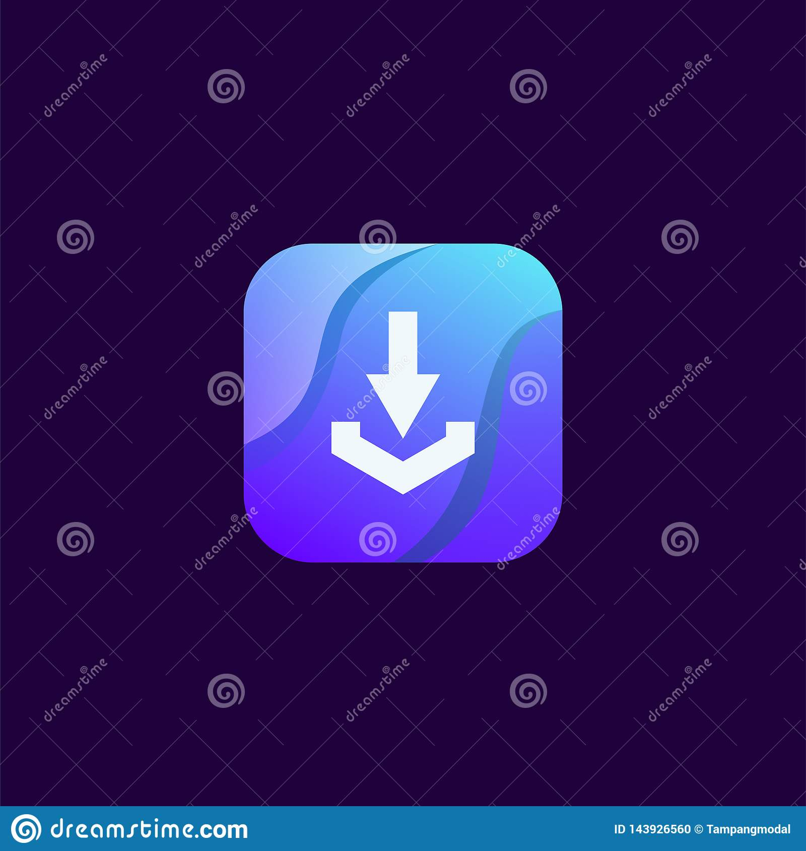 Diseño del icono de la transferencia directa listo para utilizar