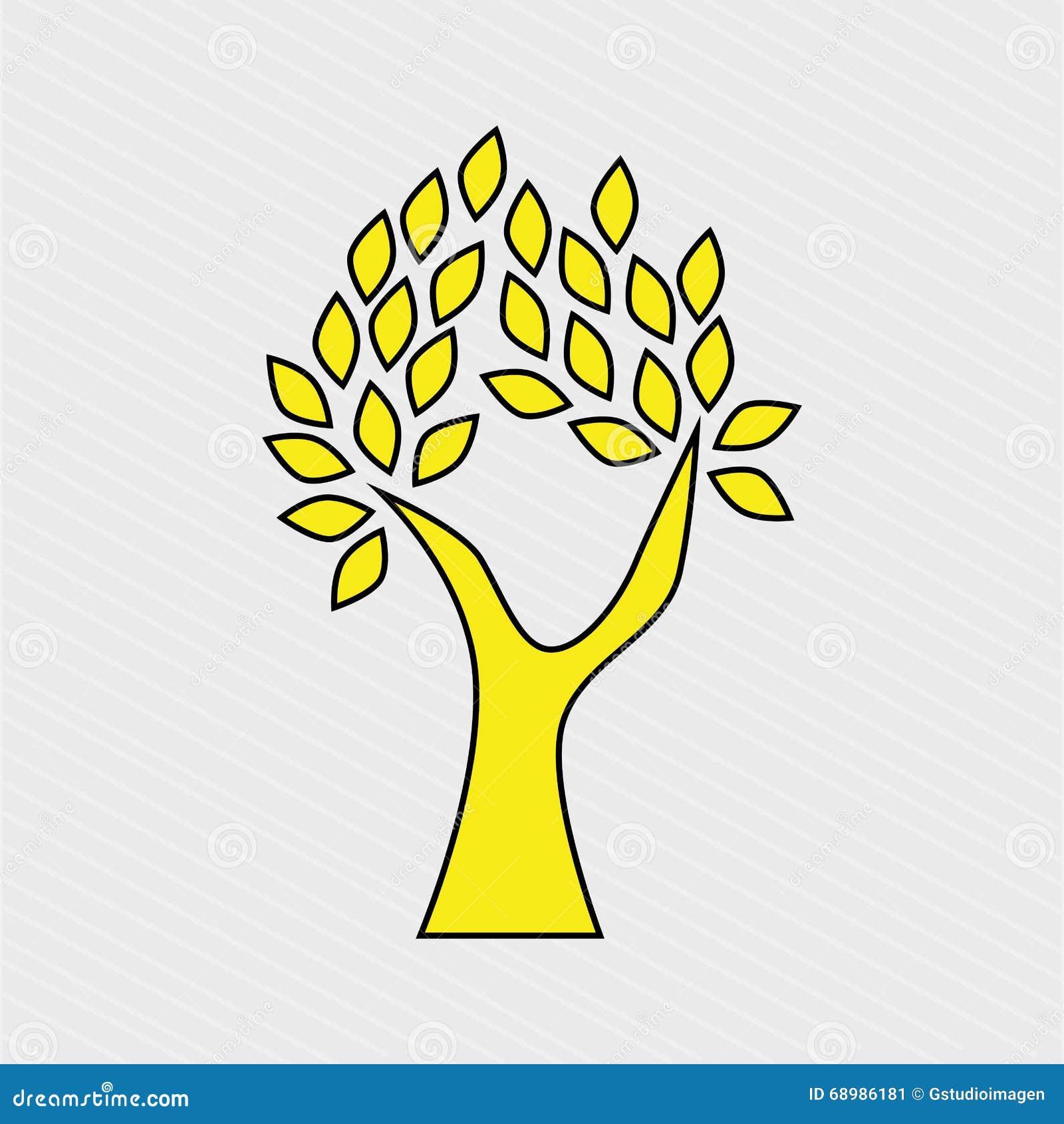 Diseño del icono del árbol