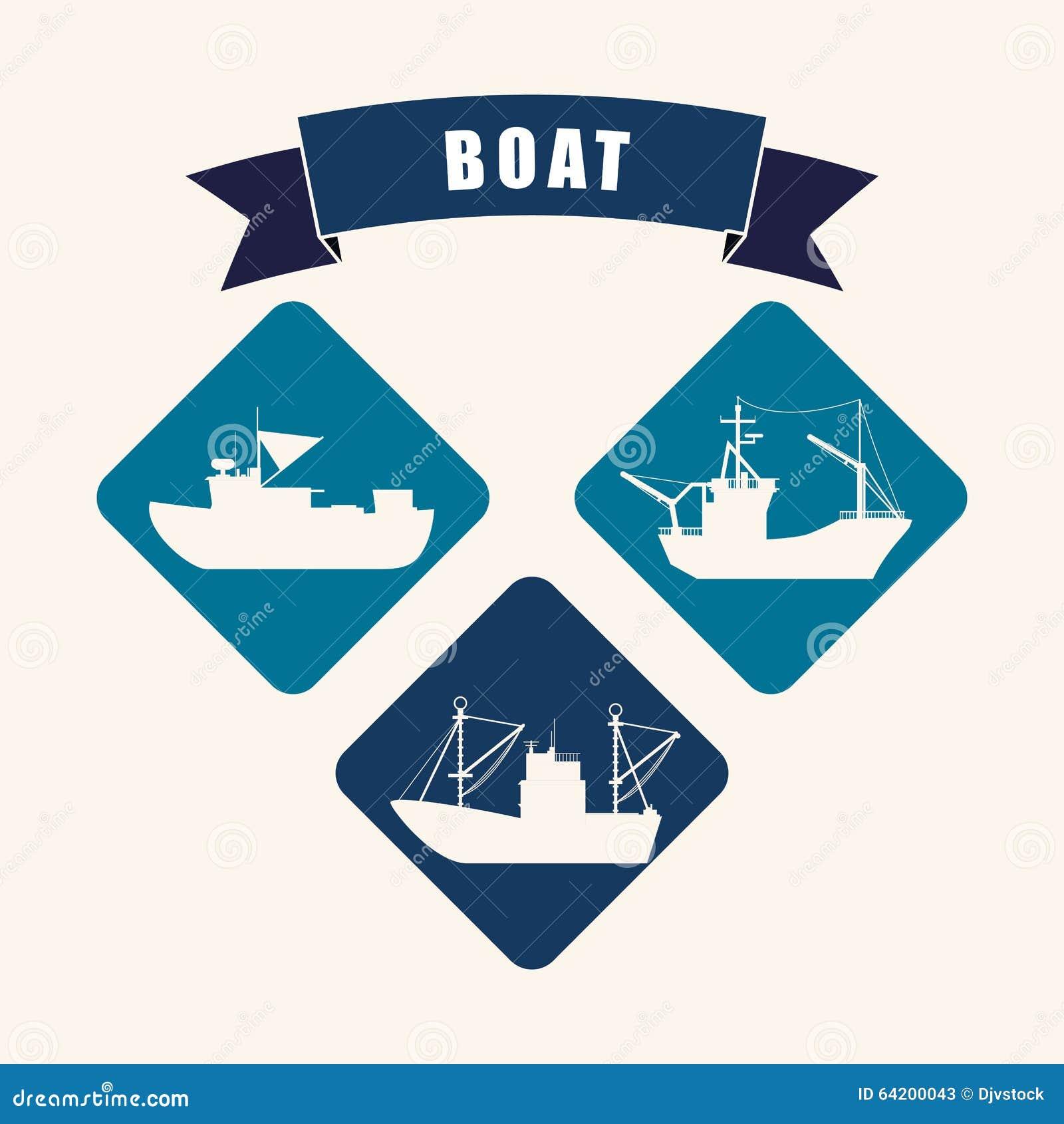 Diseño del icono del barco