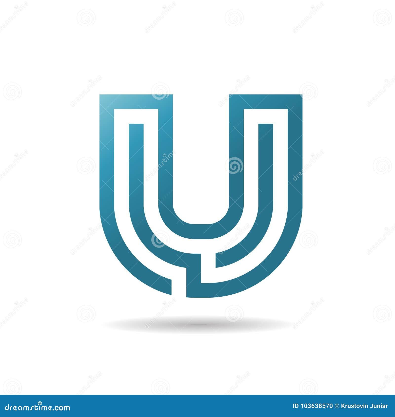 Diseño del logotipo de la letra U