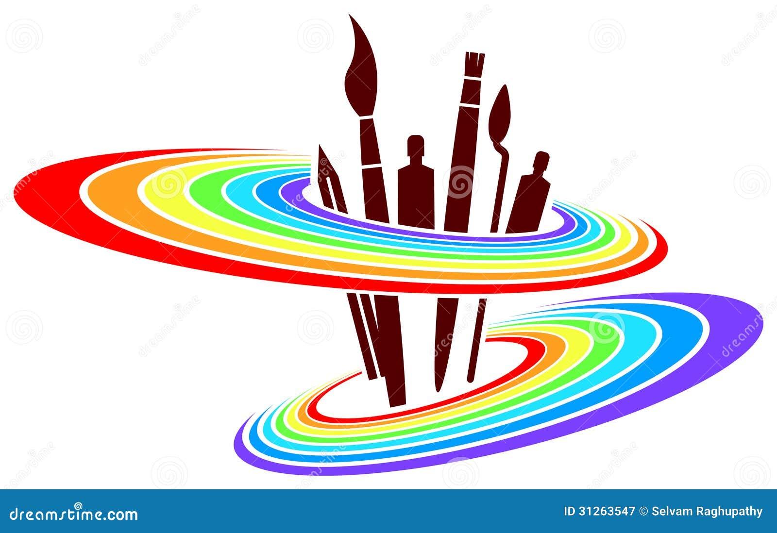 Diseño del logotipo de la pintura