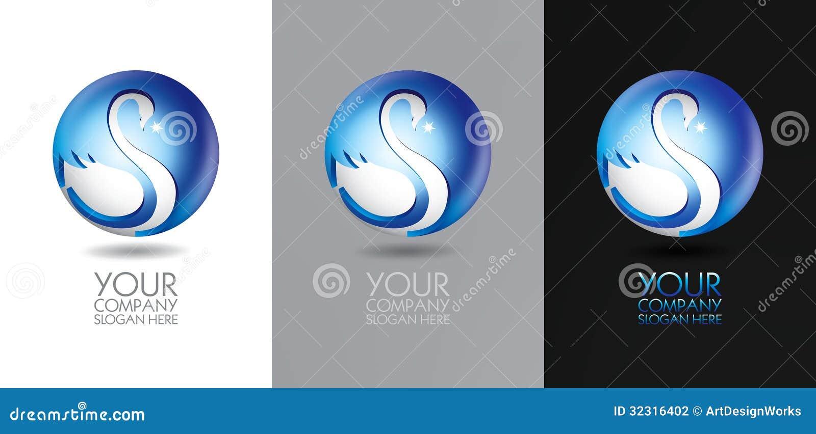 Diseño del logotipo del cisne