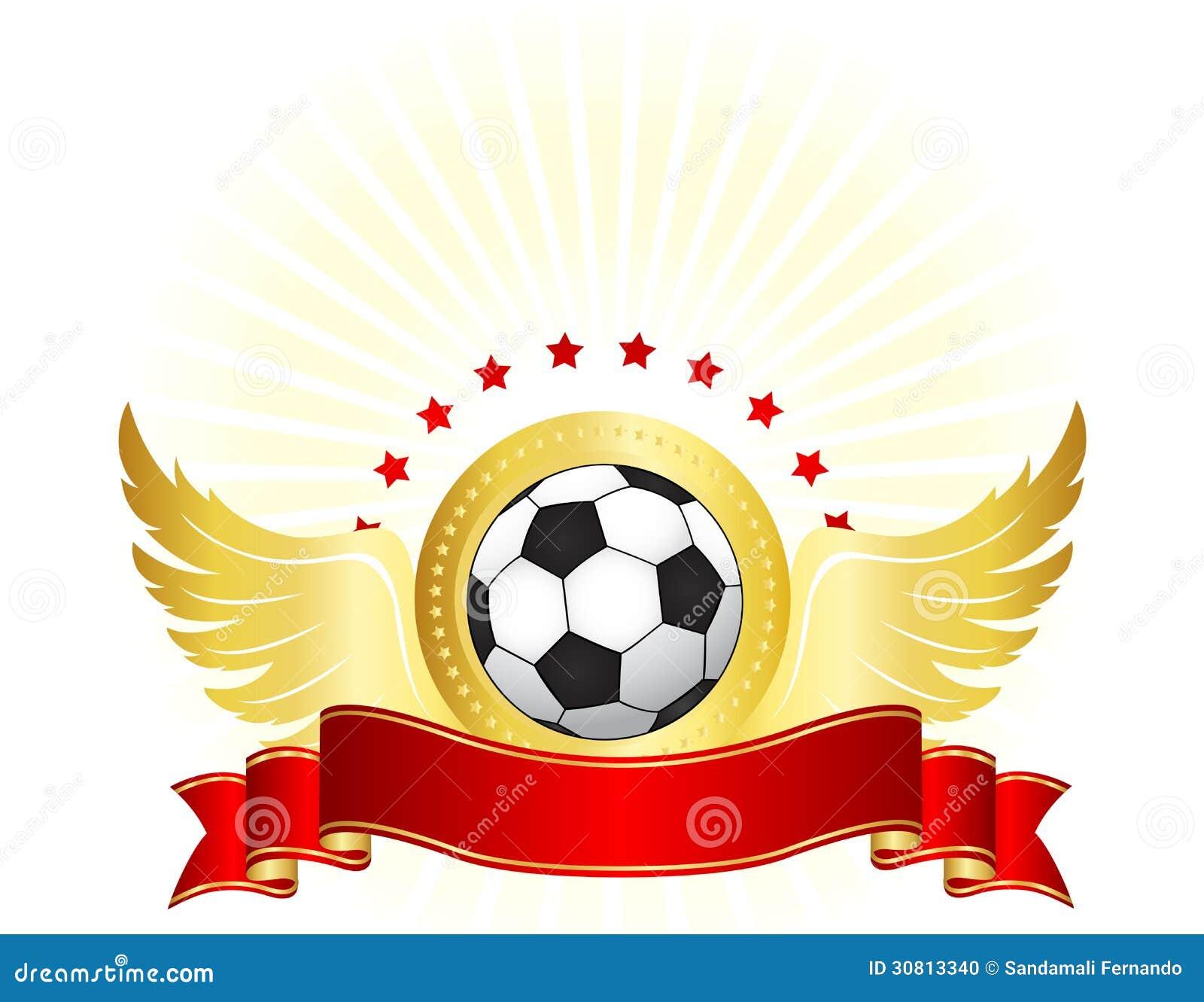 ejemplo de un fútbol blanco y negro con las estrellas de oro de las ...