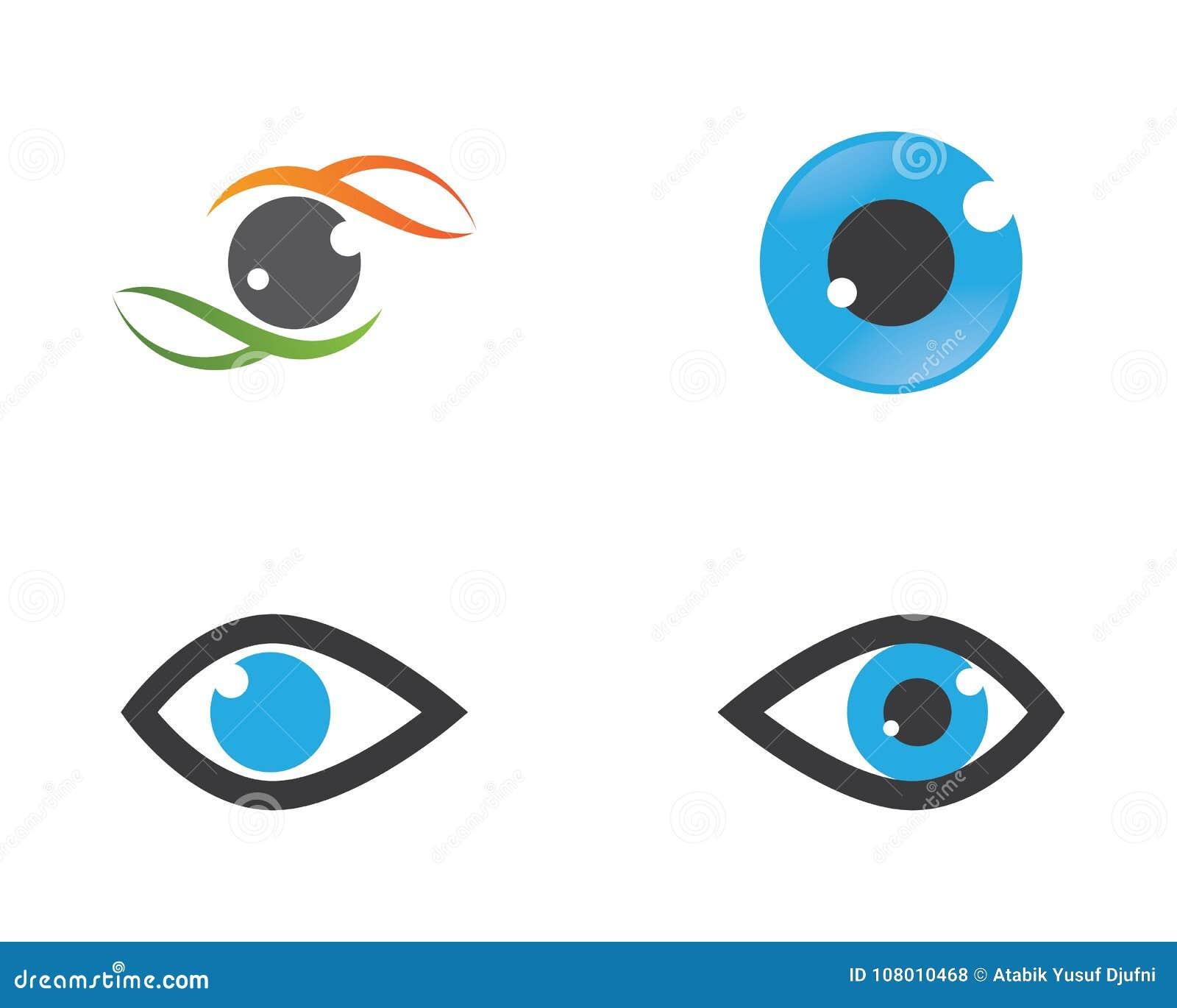 Diseño Del Logotipo Del Ejemplo Del Icono Del Vector Del Ojo ...