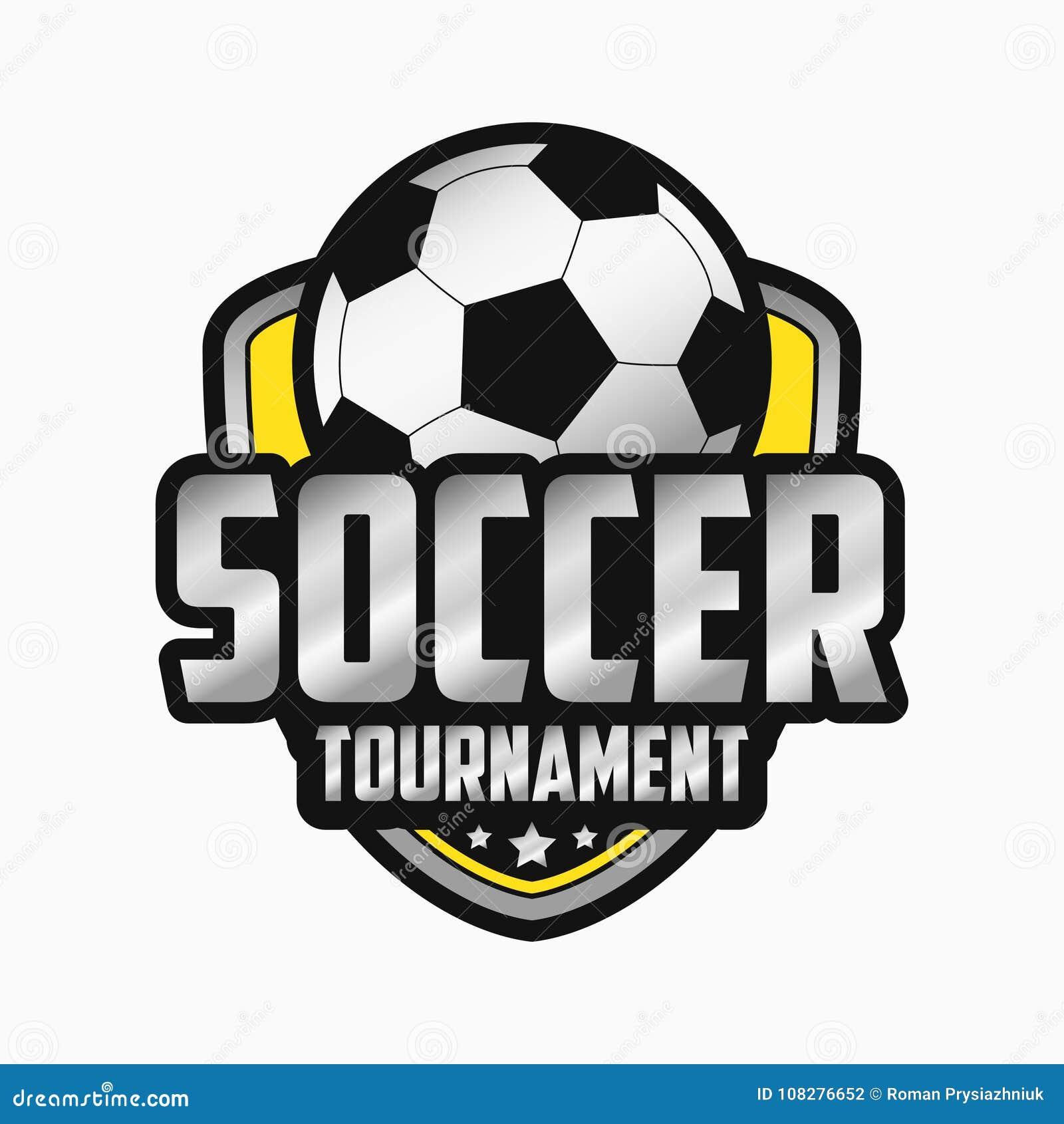 47136de2a4719 Diseño del logotipo del fútbol Emblemas de los deportes Ilustración del  vector