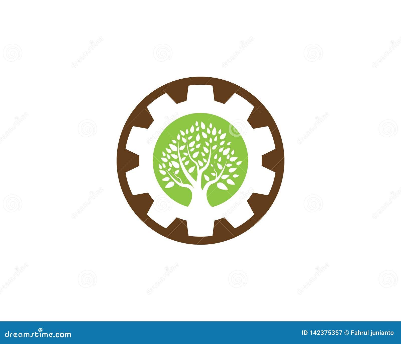 Diseño del logotipo del icono del árbol