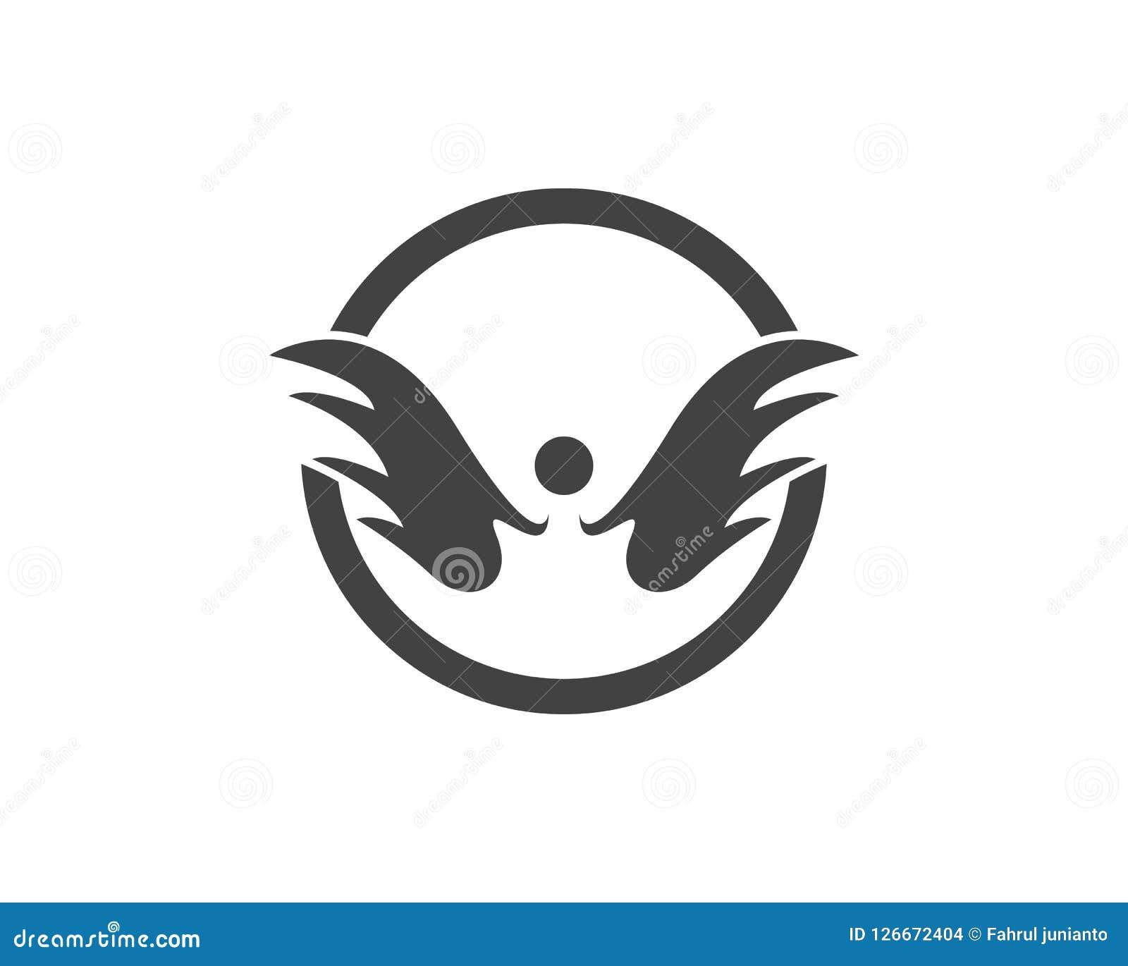 Diseño del logotipo del icono del ala Ilustración del Vector