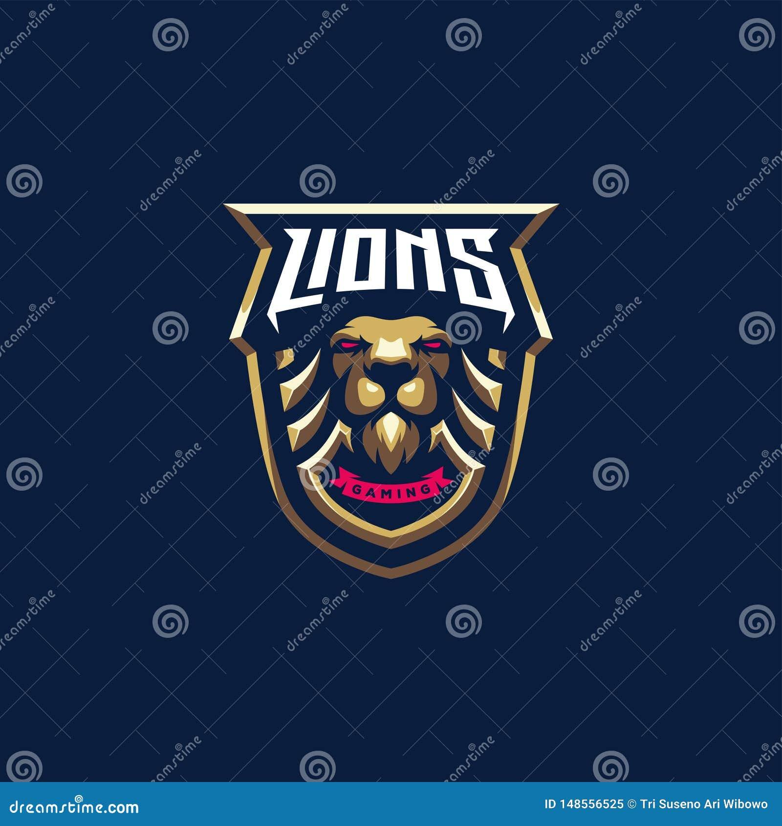 Diseño del logotipo del león, vector, ejemplo