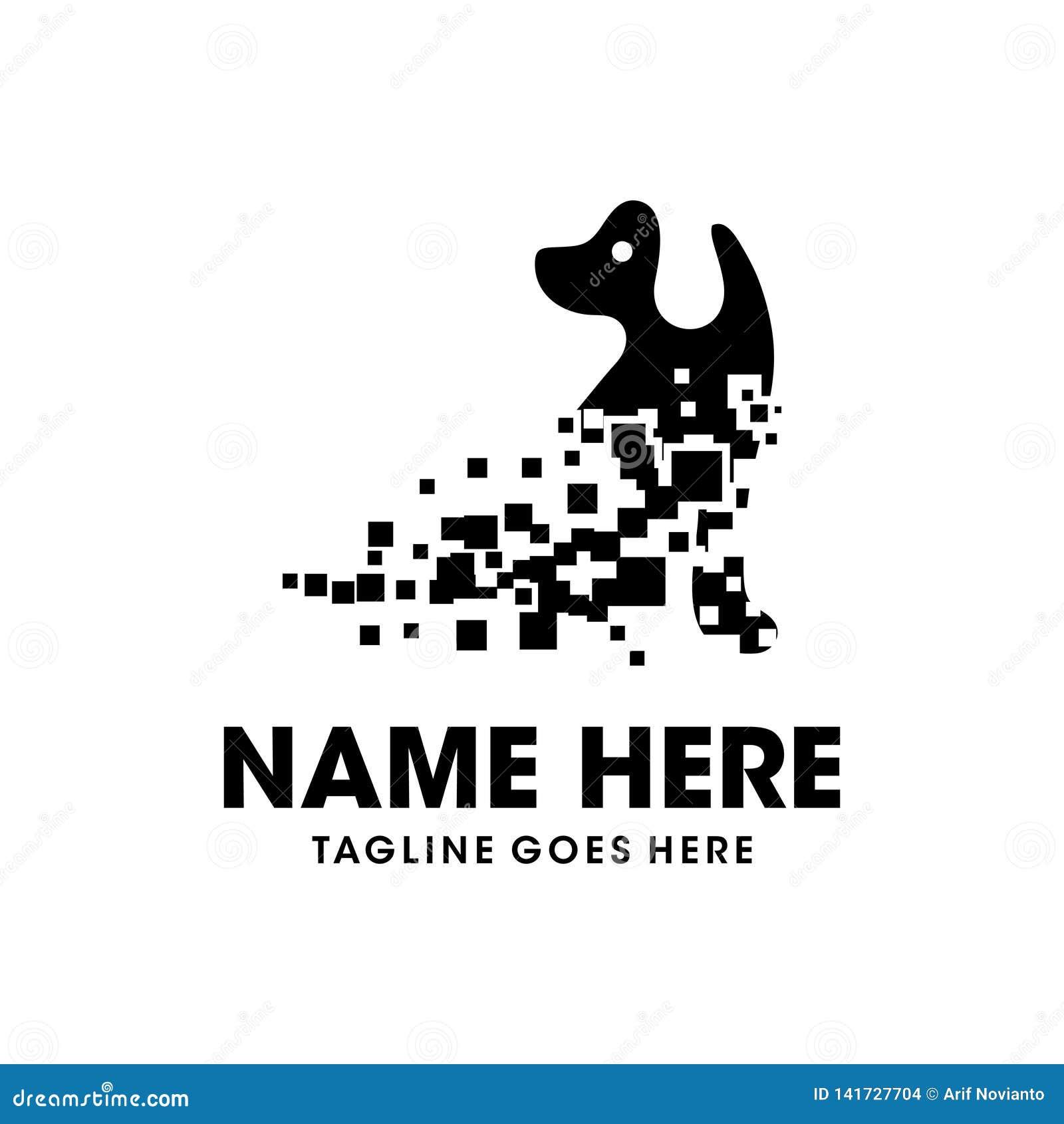 Diseño del logotipo del perro de la tecnología