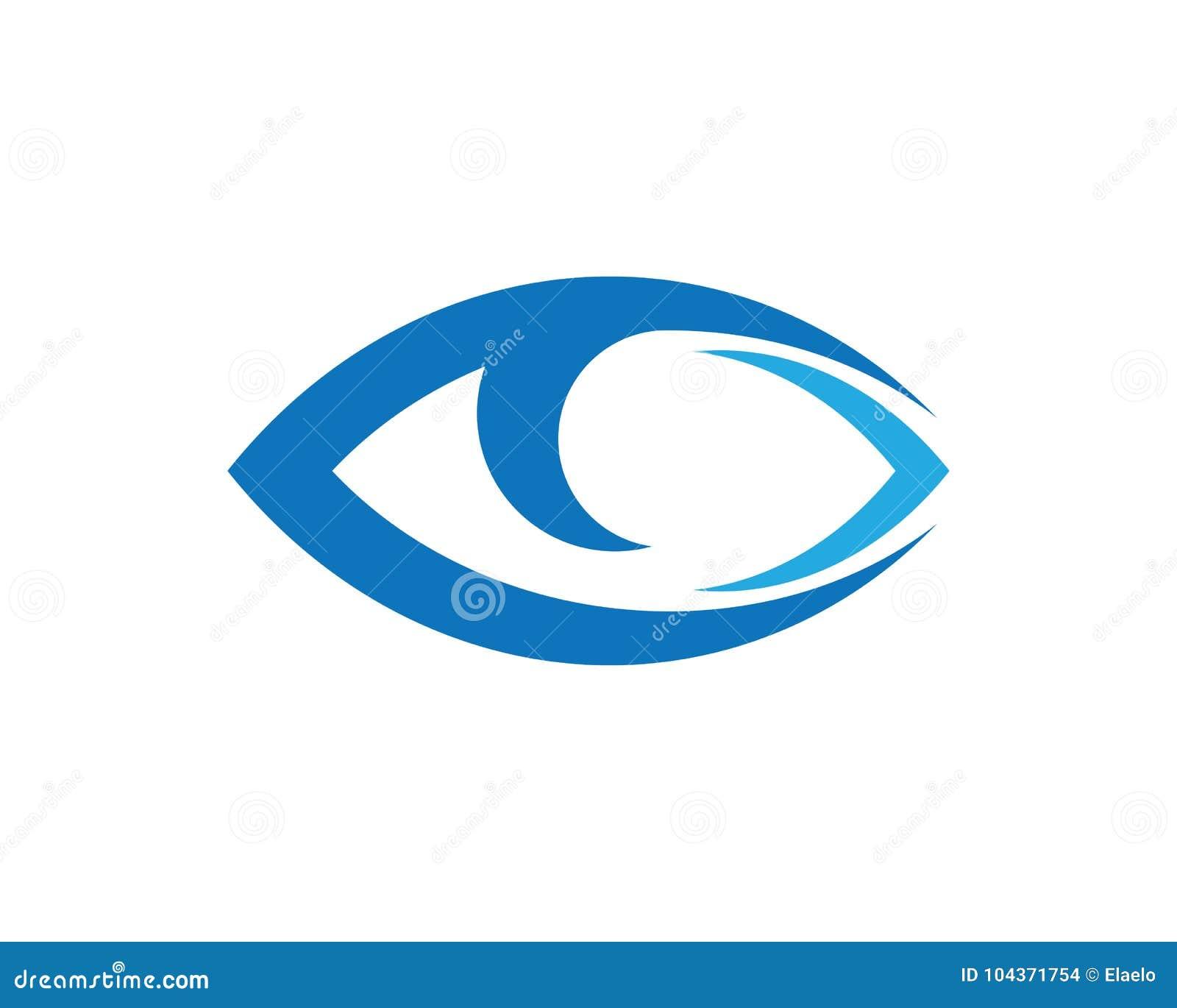 Diseño Del Logotipo Del Vector Del Cuidado Del Ojo Ilustración del ...