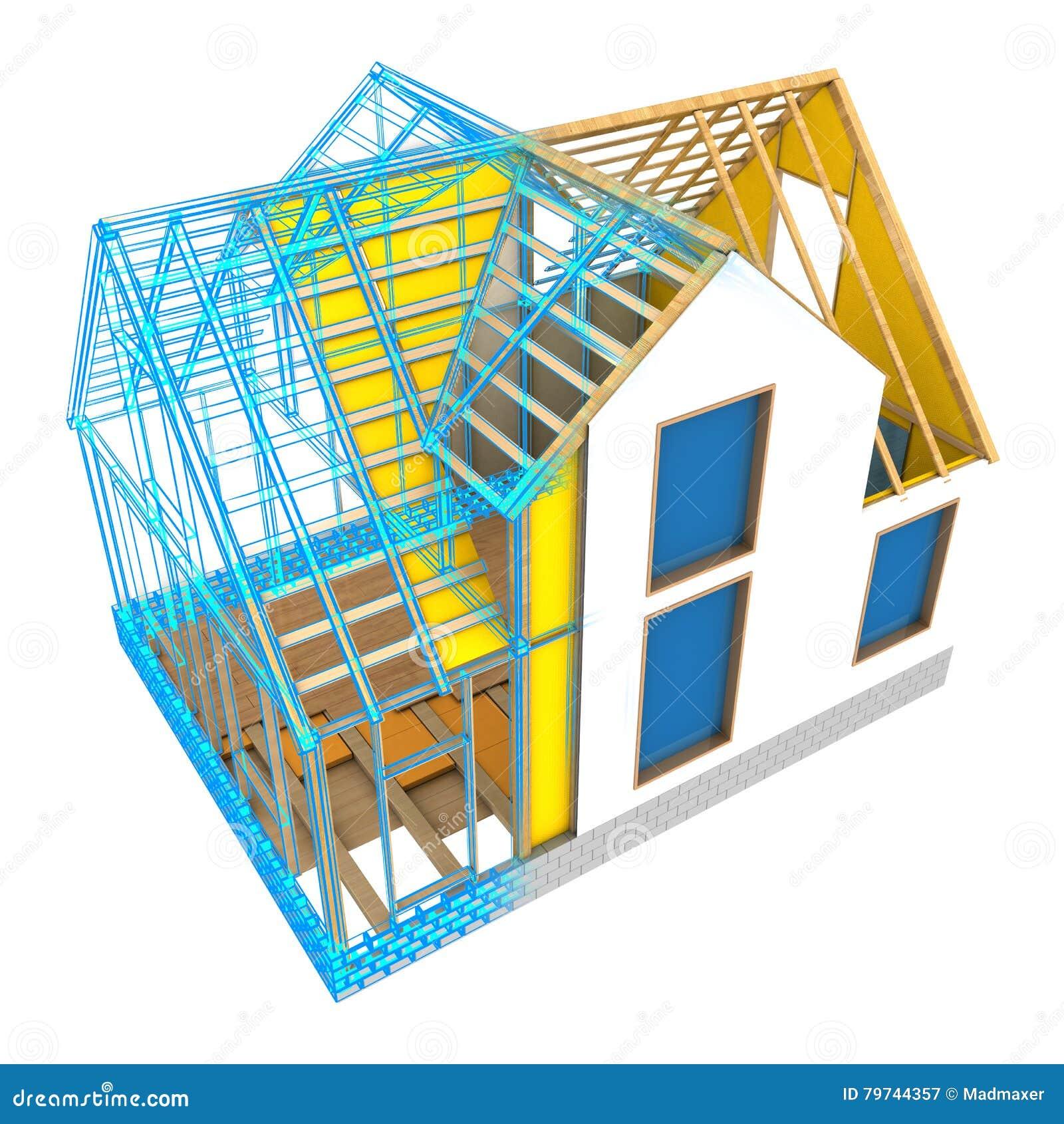 Diseño del marco de la casa