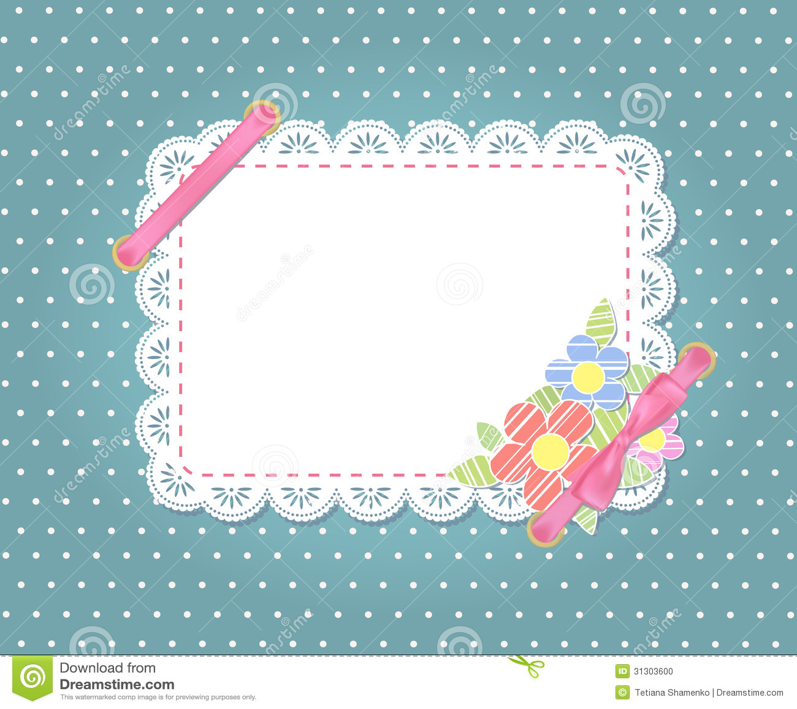 Diseño Del Marco De La Plantilla Para La Tarjeta. Ilustración del ...