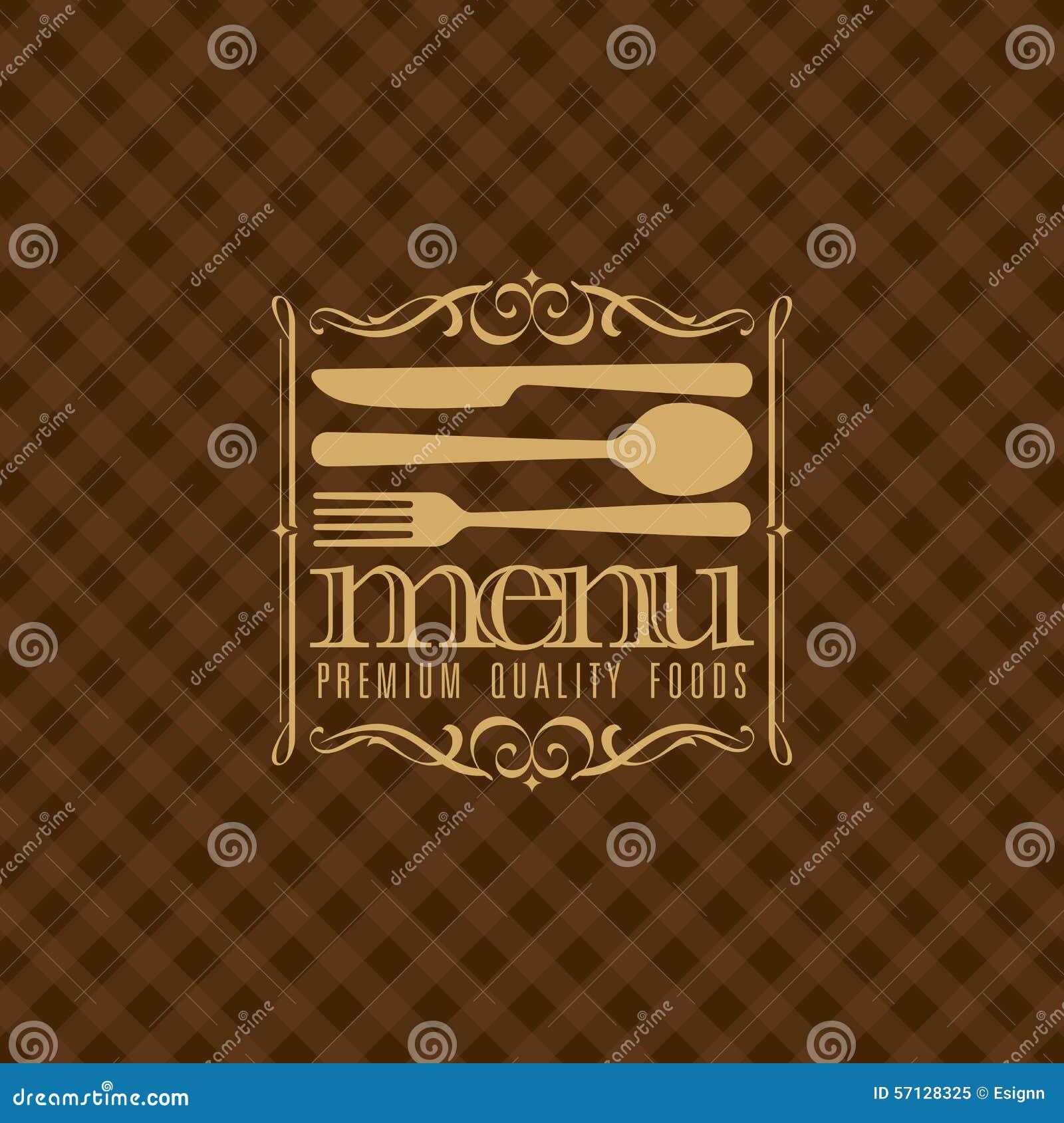 diseño del menú del restaurante ejemplo ilustración del vector