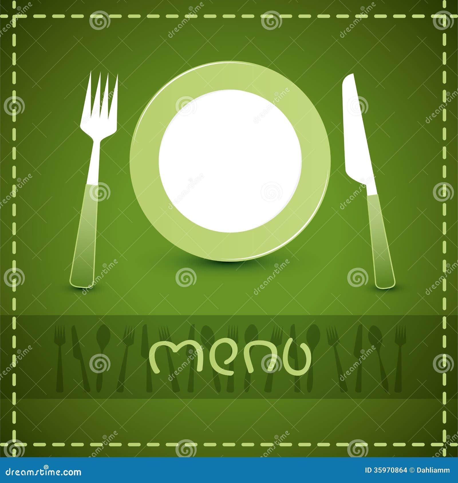Diseño del menú del vector