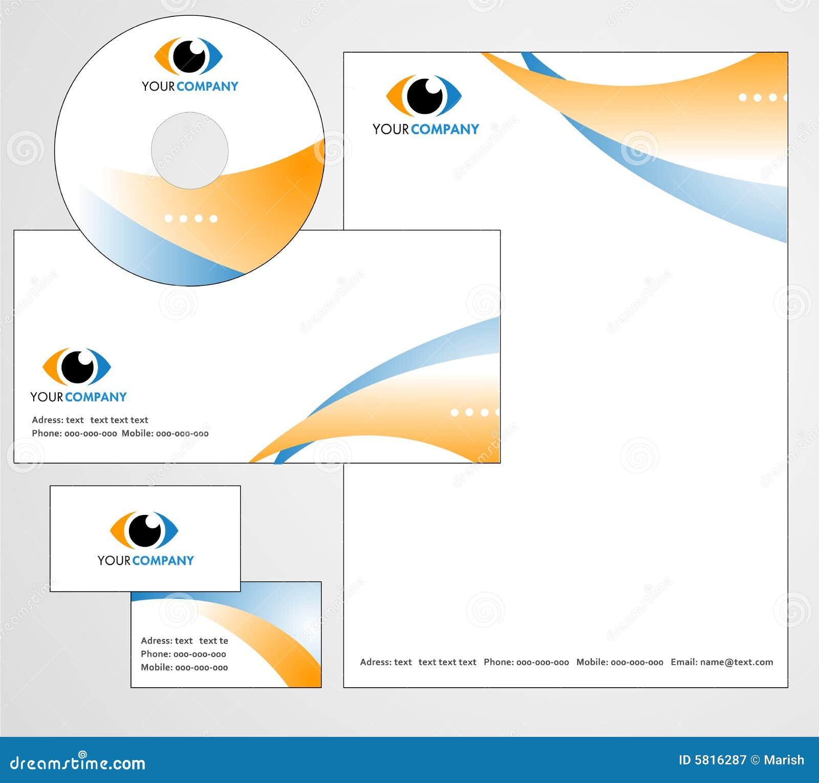 Diseño Del Modelo De Insignia Y De Papel Con Membrete Ilustración ...