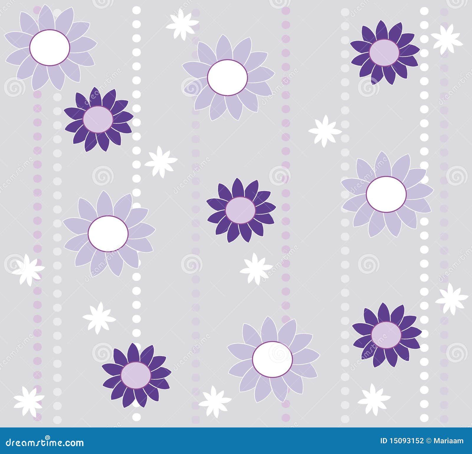 Dise o del papel pintado con las flores fotograf a de for Papel pintado diseno