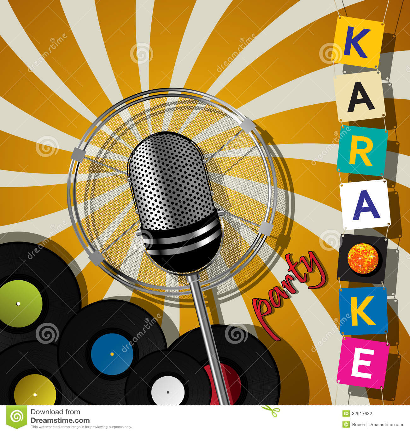 Diseño Del Partido Del Karaoke Ilustración Del Vector
