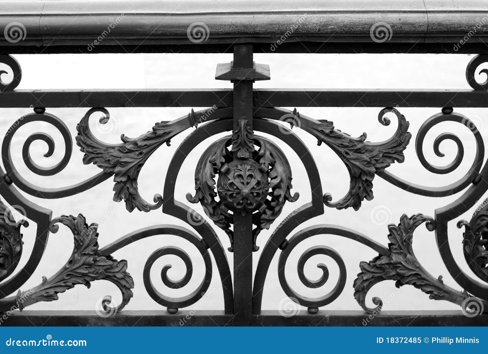 Diseño del pasamano del puente, París,