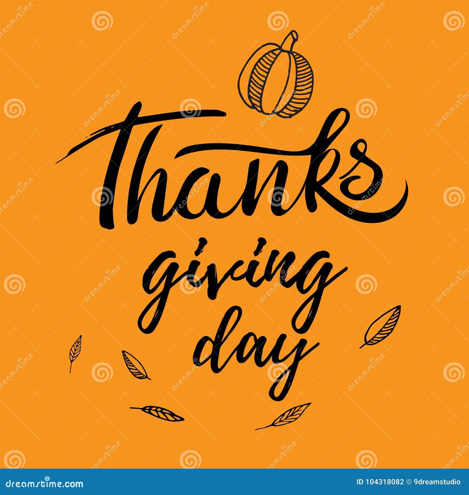 Diseño del saludo de la acción de gracias con la calabaza, otras verduras, las hojas de otoño, y día de la acción de gracias de l