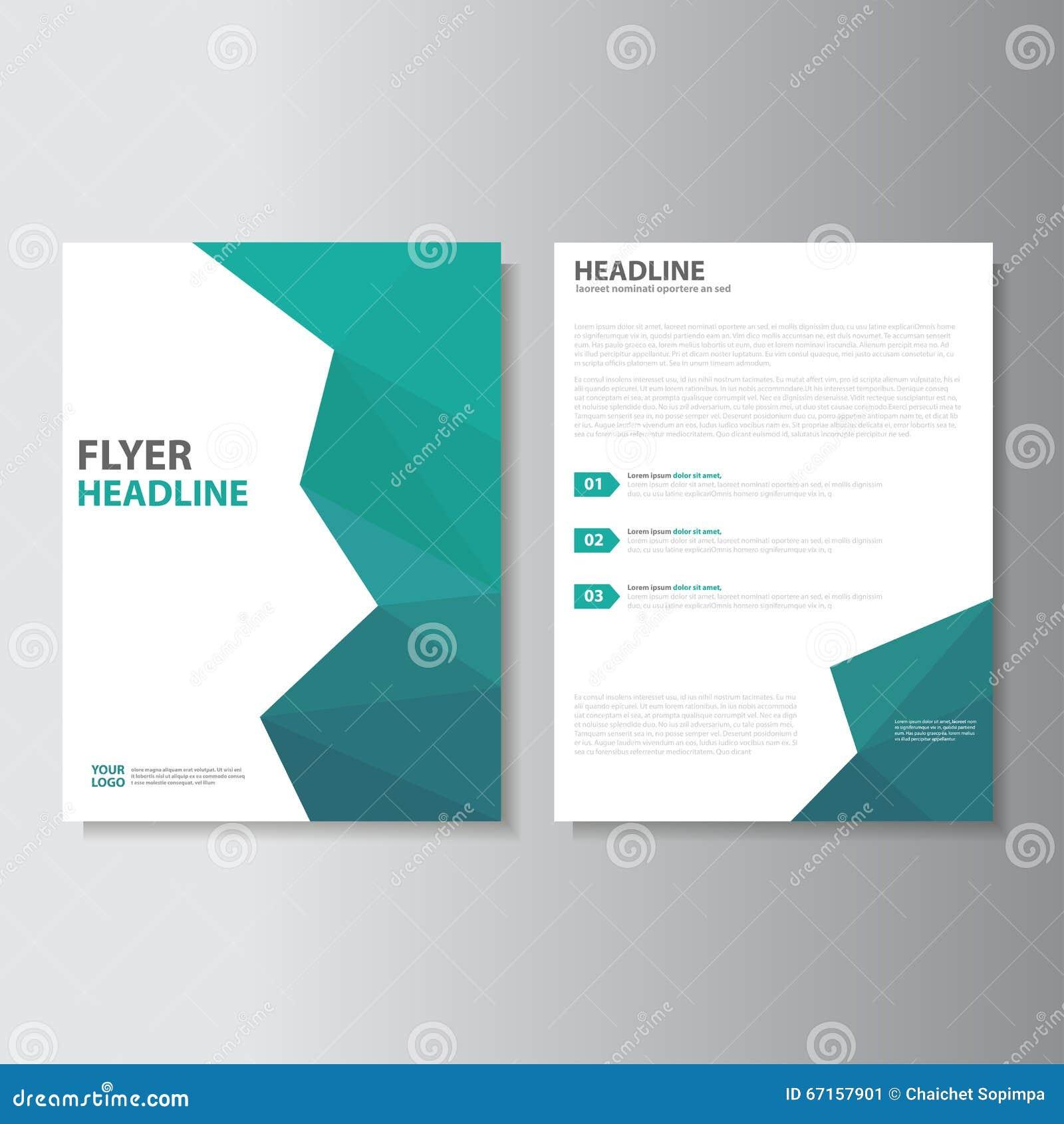 Diseño del tamaño de la plantilla a4 del aviador del folleto del prospecto del vector, diseño de la disposición de la cubierta de