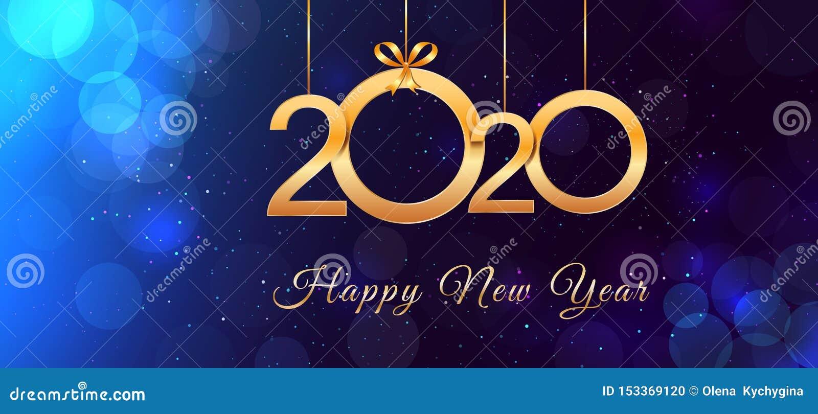 Diseno Del Texto Del Vintage De La Feliz Ano Nuevo 2020 Con Numeros Y Arcos De Oro Brillantes De La Cinta En Fondo Azul Con Efect Ilustracion Del Vector Ilustracion De Felicitaciones para año nuevo, pensamientos para año nuevo, saludos por año nuevo frases, dorene9454. vintage de la feliz ano nuevo 2020