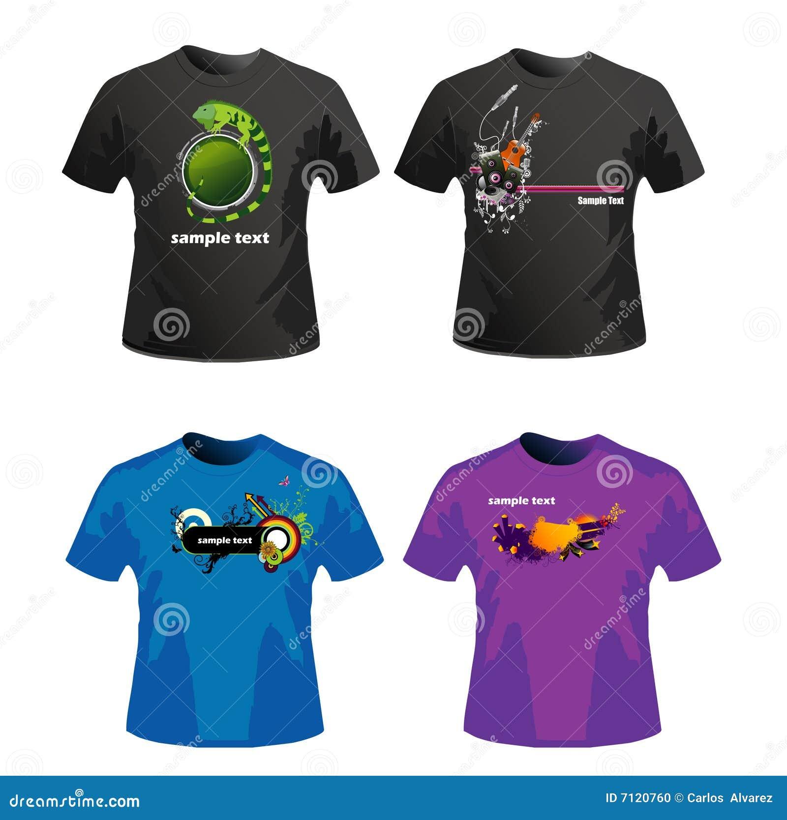 Diseño del vector de las camisas