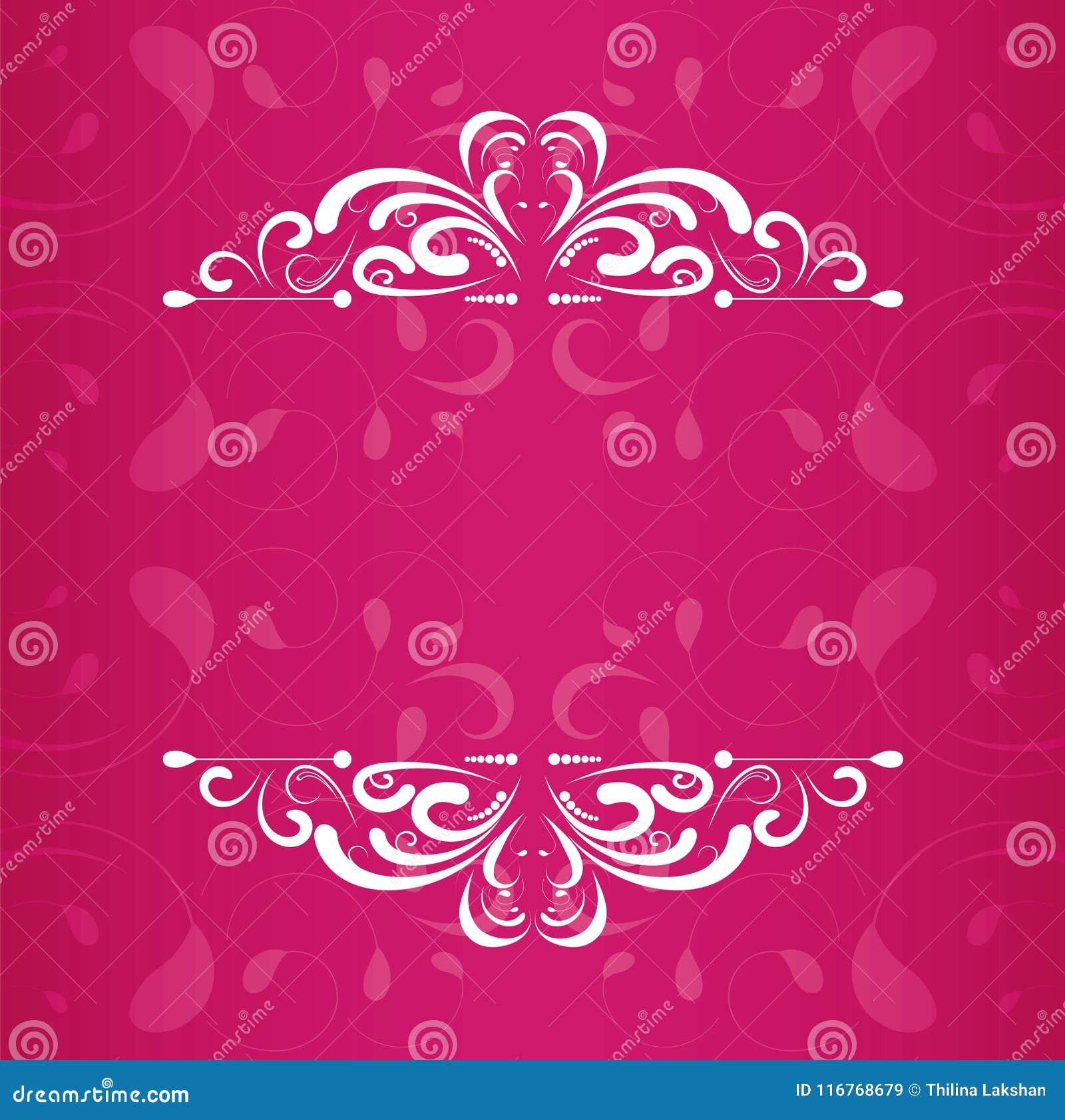 Diseño del vector de los marcos de la invitación de la boda del vintage