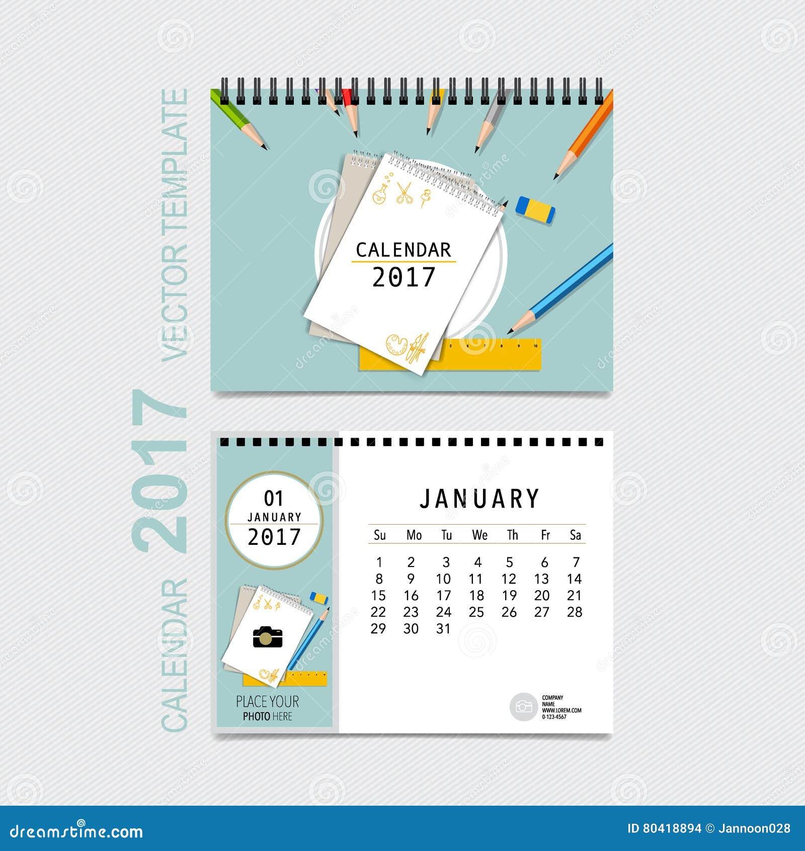 diseño del vector del planificador de 2017 calendarios plantilla