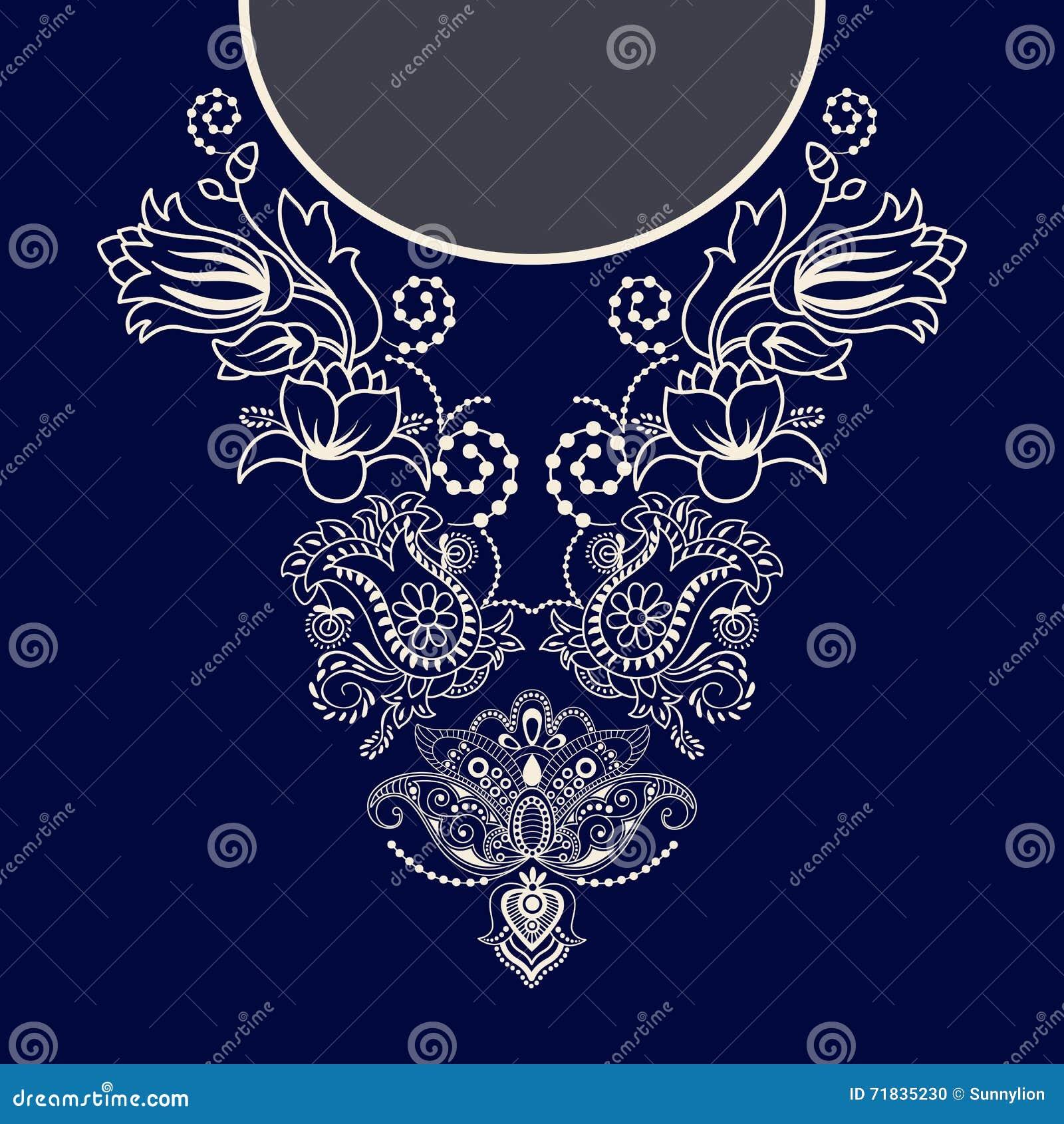 Diseño del vector para las camisas del cuello, blusas