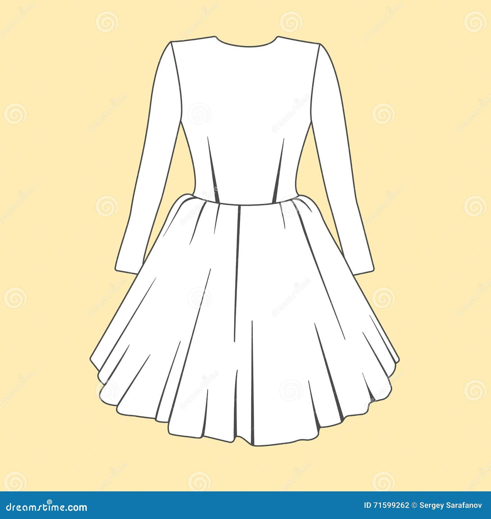 Diseño Del Vestido De Las Mujeres Bosquejos Planos De Las Plantillas ...