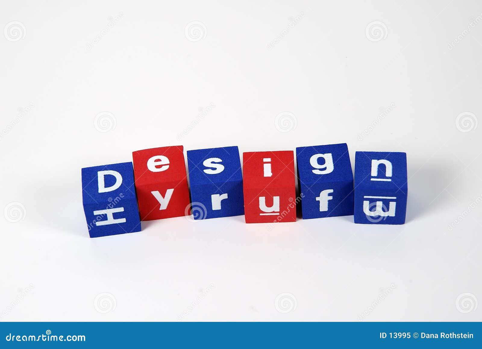 Diseño deletreado de bloques
