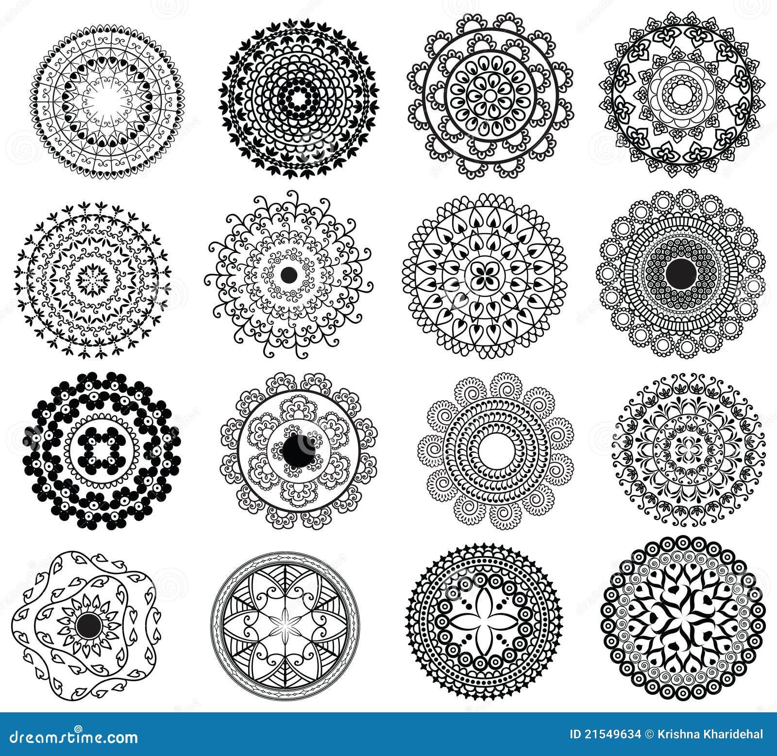 Dise o detallado de la mandala imagenes de archivo for Disenos de mandalas