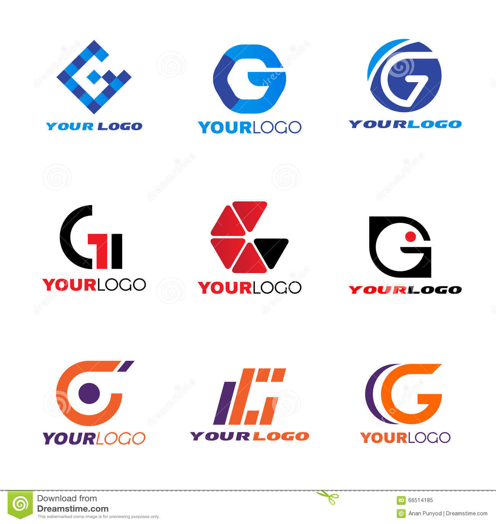 Diseño determinado del vector del logotipo de G de la letra