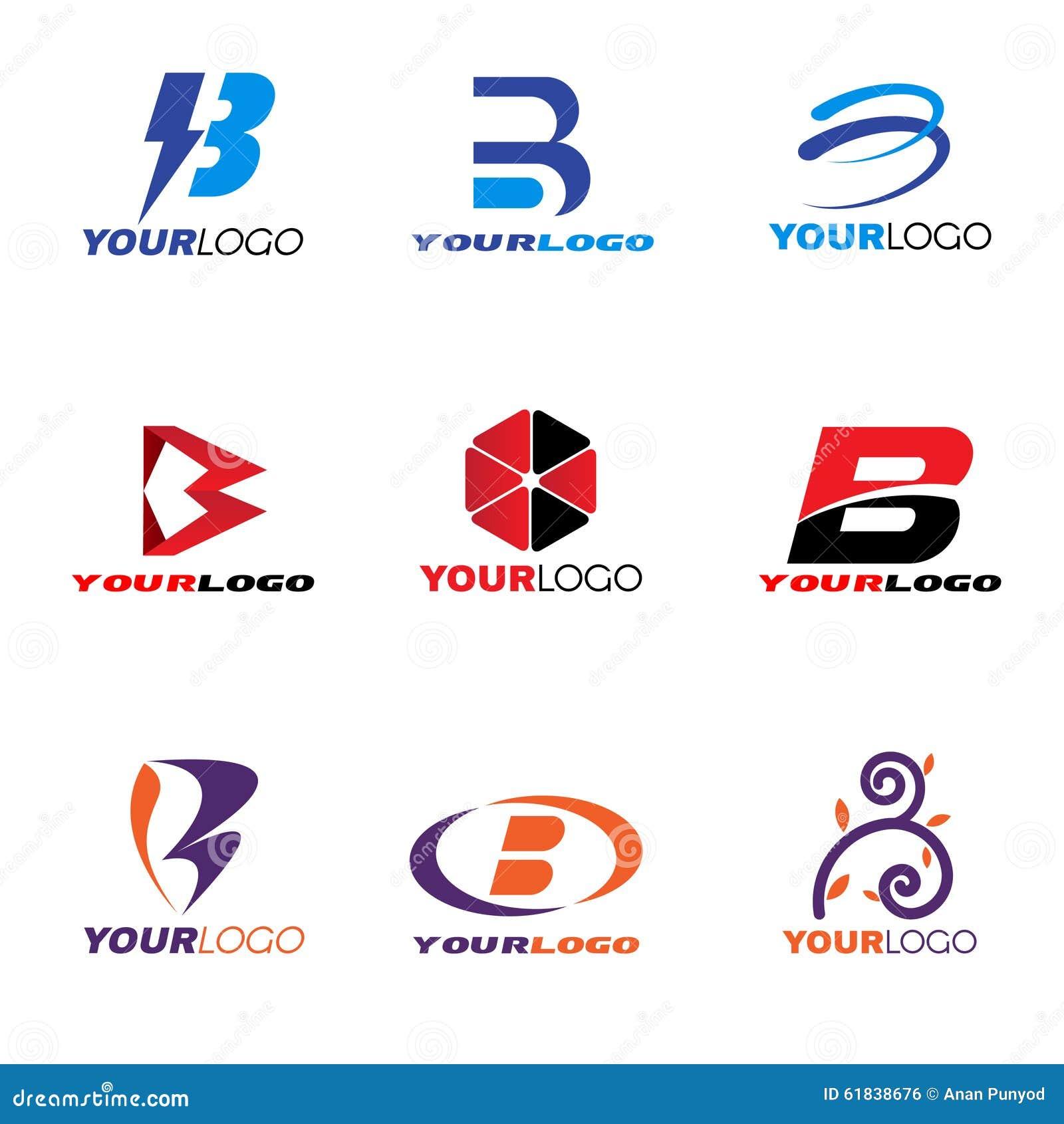 dise o determinado del vector del logotipo de la letra b