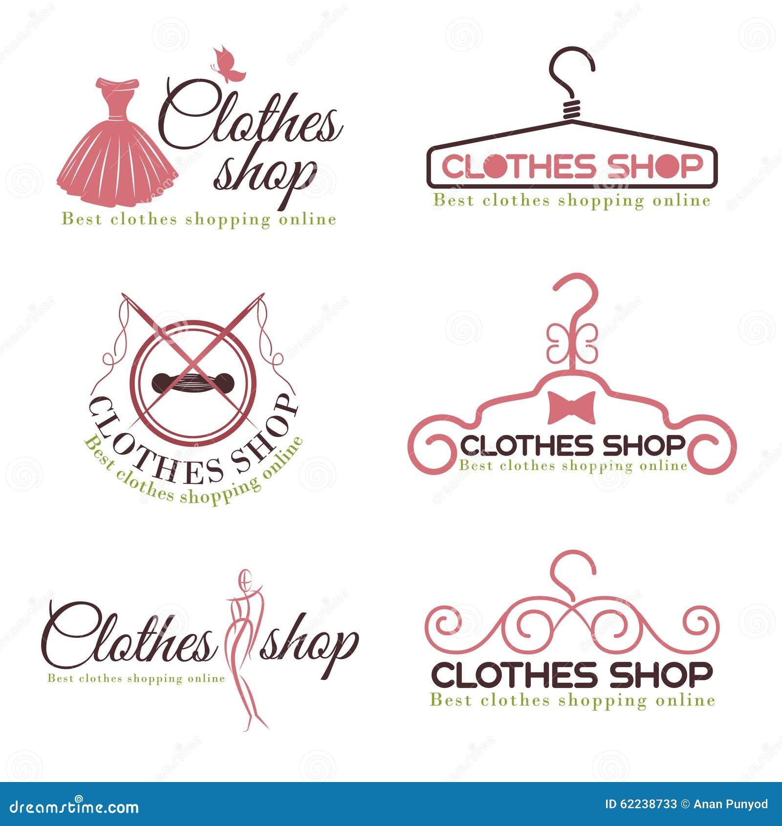 Dise o determinado del vector del logotipo de la moda de for Ropa de diseno online