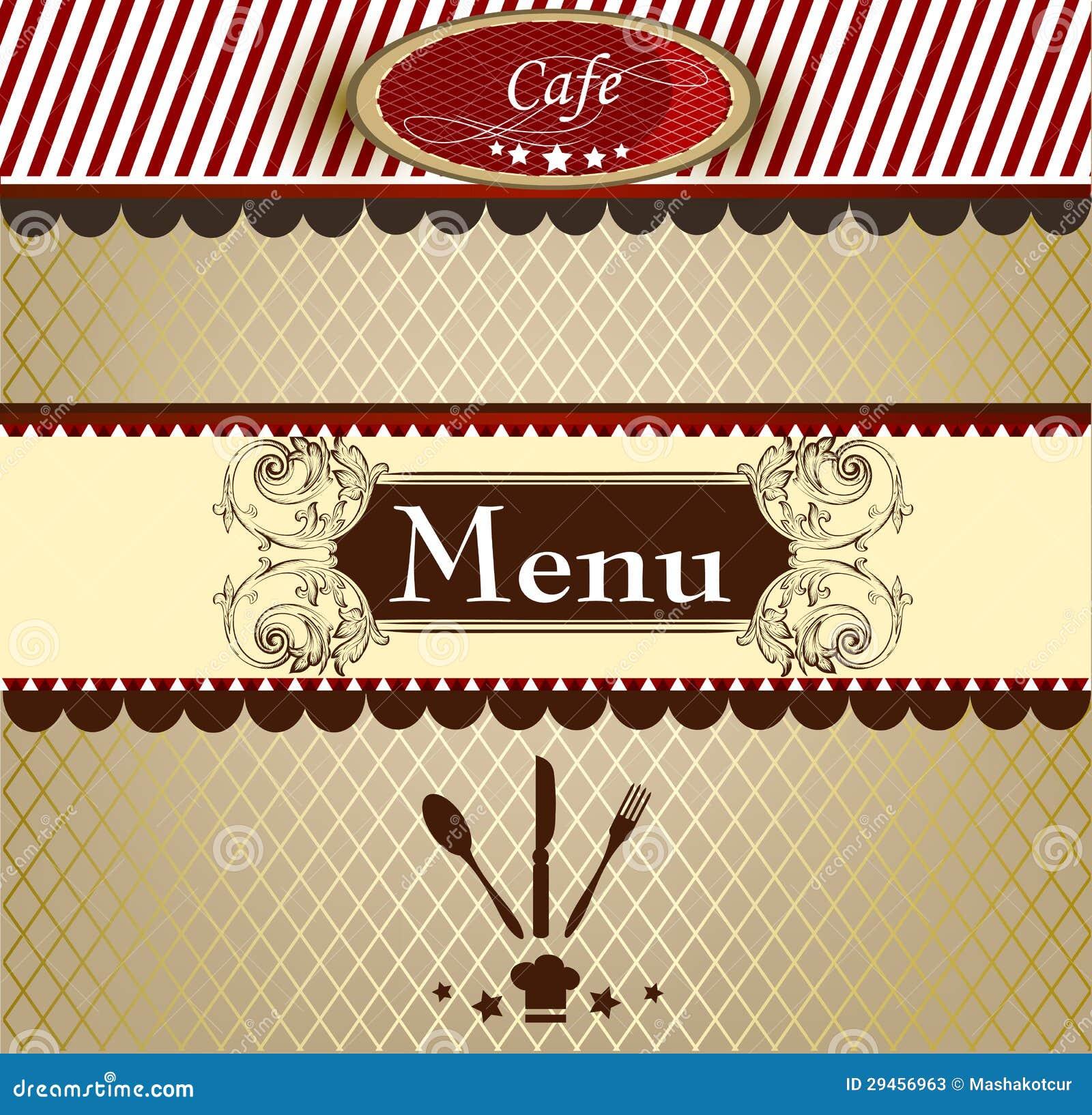 Dise o elegante del men para el caf fotos de archivo for Disenos de menus para cafeterias