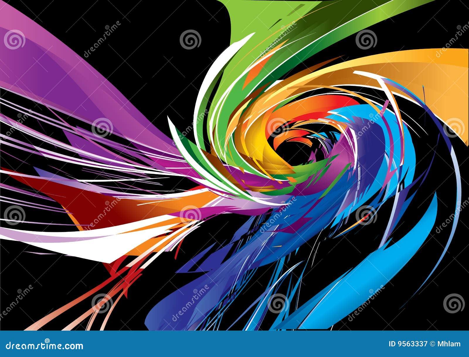 Diseño espiral colorido